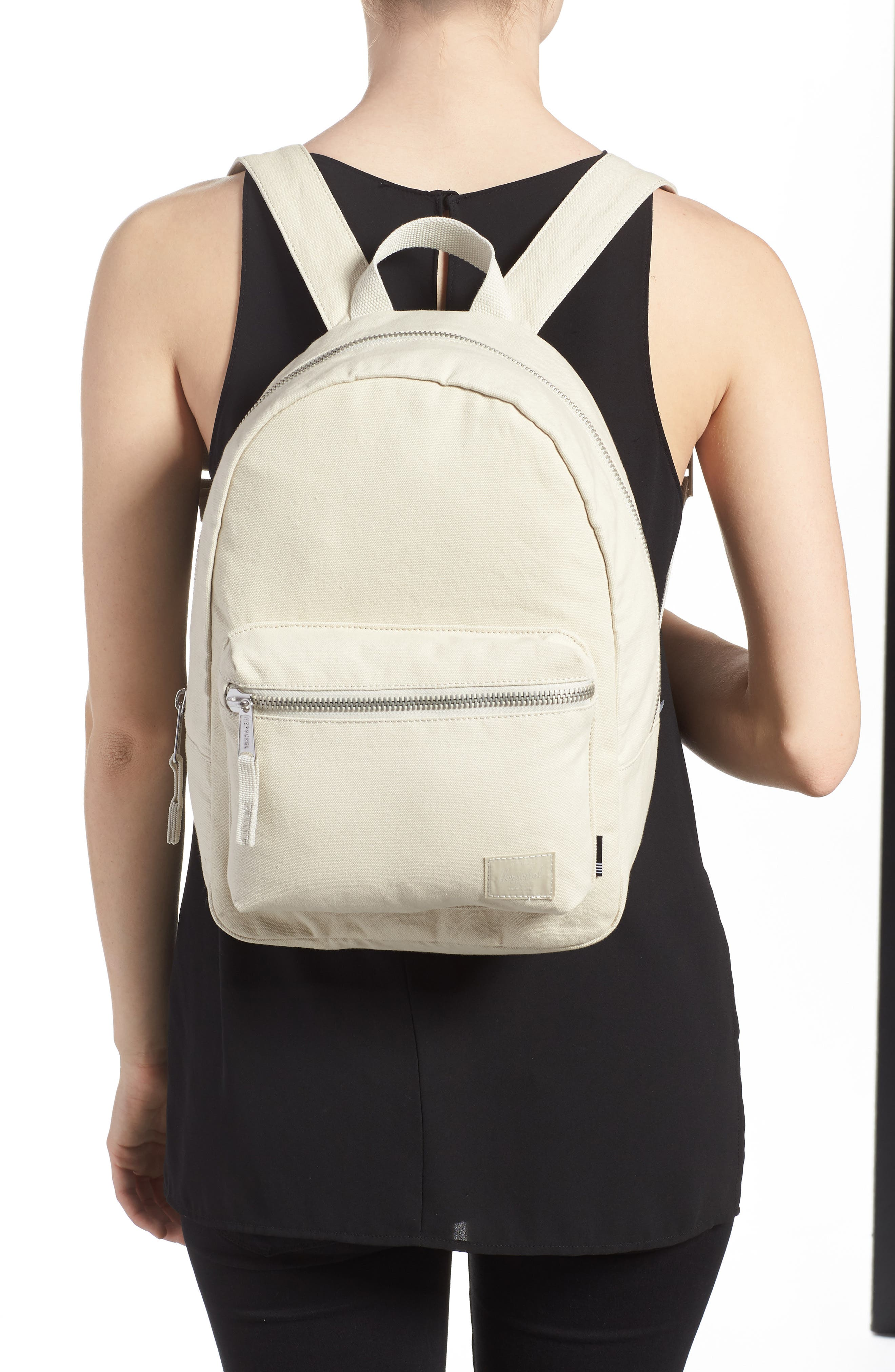 X-Small Grove Cotton Canvas Backpack,                             Alternate thumbnail 6, color,