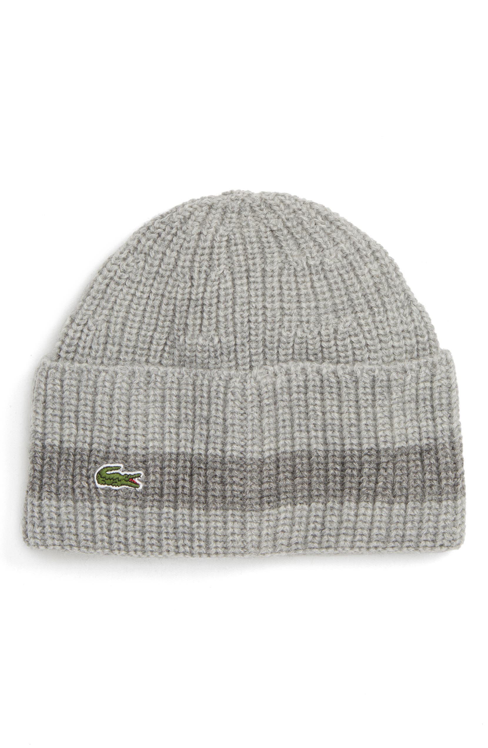 Lacoste Ribbed Wool Beanie  a833663b24