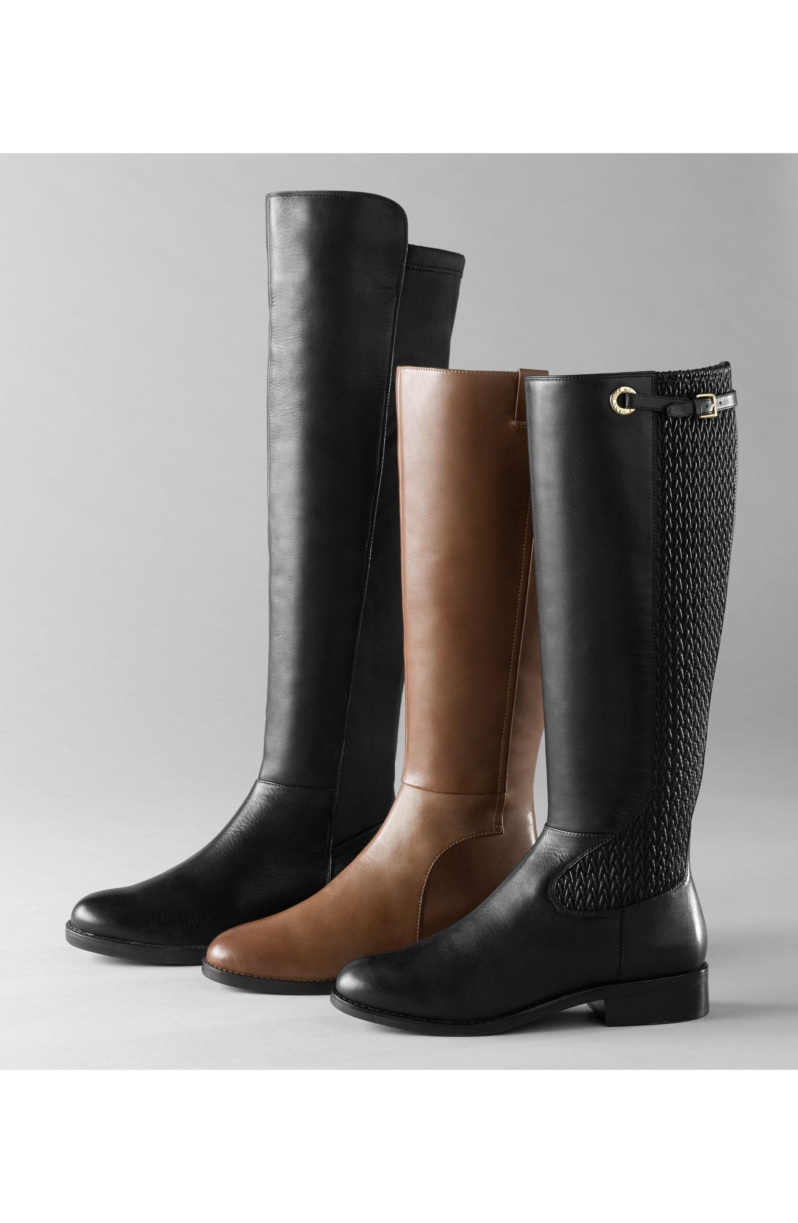 Olivia Knee High Boot,                             Alternate thumbnail 7, color,                             001