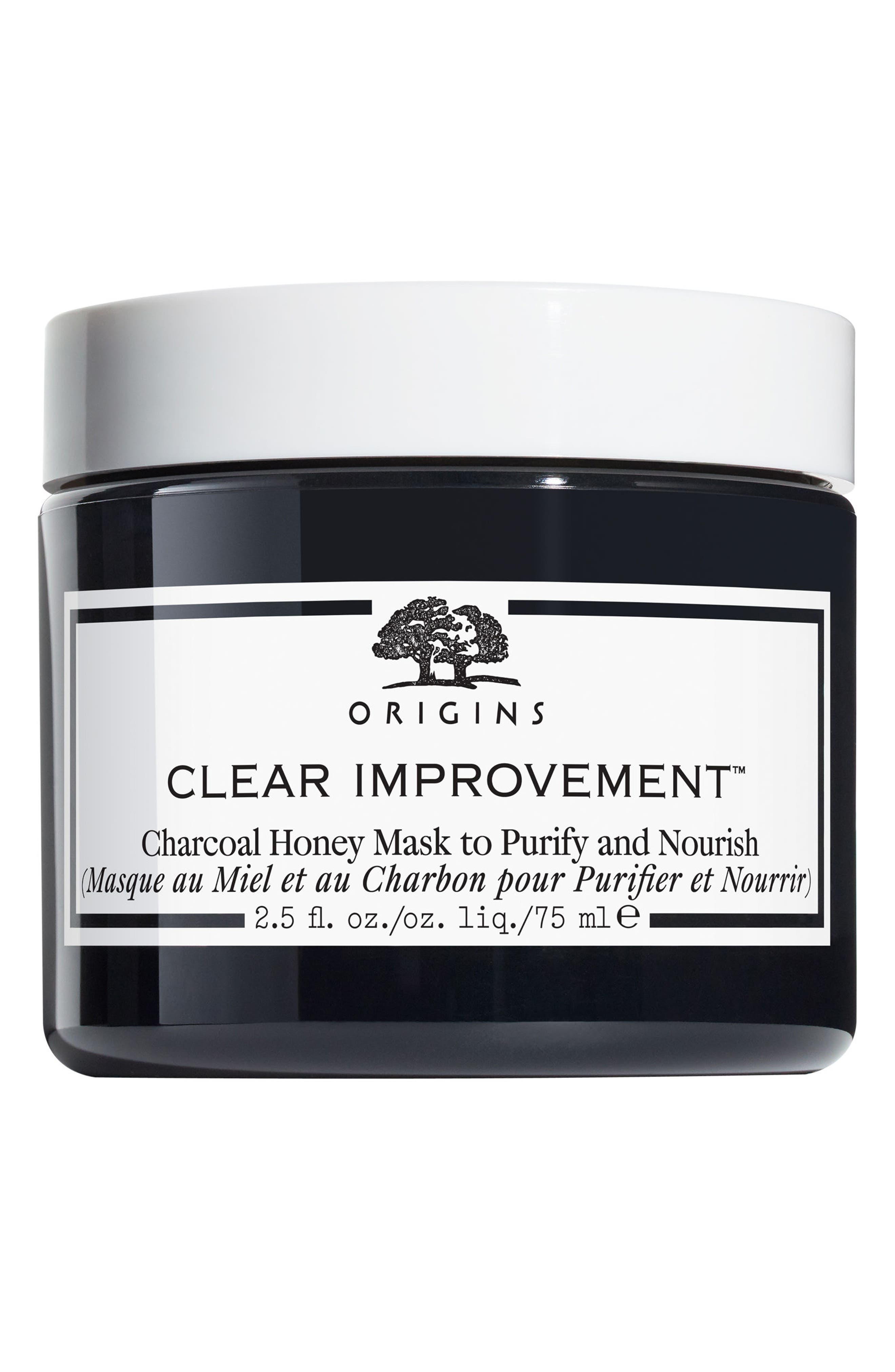 Clear Improvement<sup>™</sup> Charcoal Honey Mask, Main, color, NO COLOR