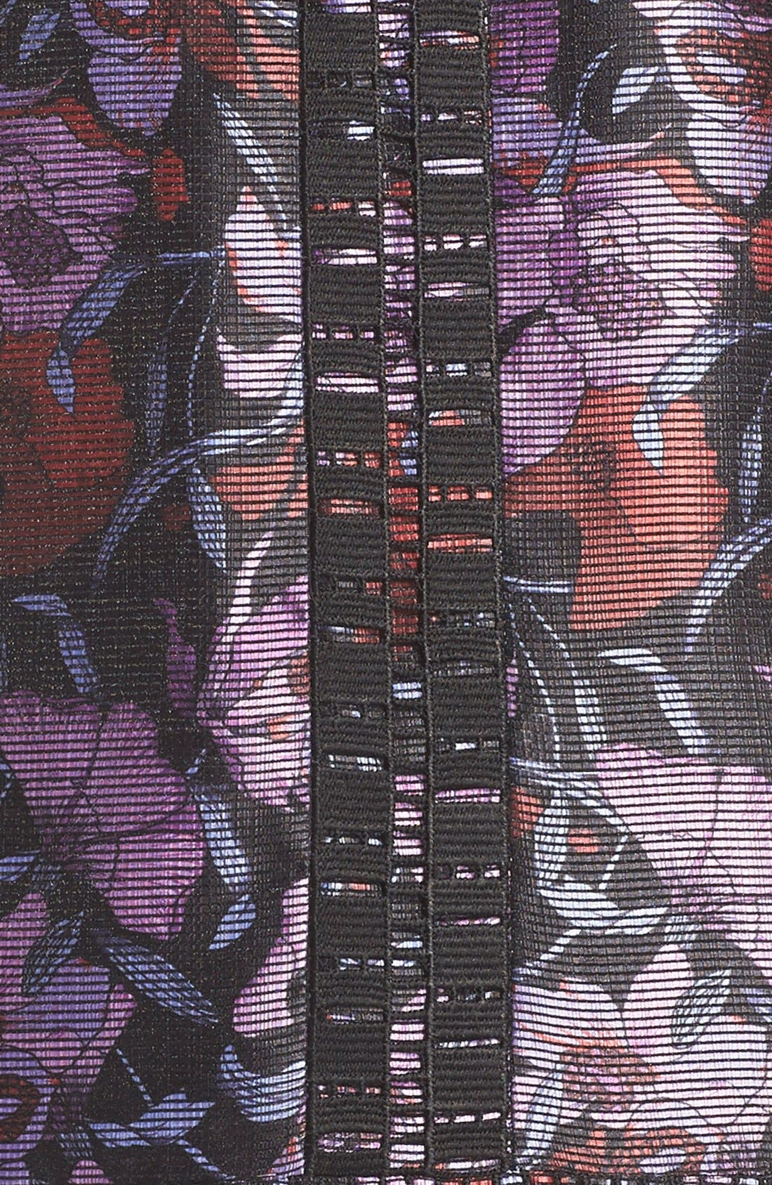 Iris Print Shift Dress,                             Alternate thumbnail 3, color,                             500