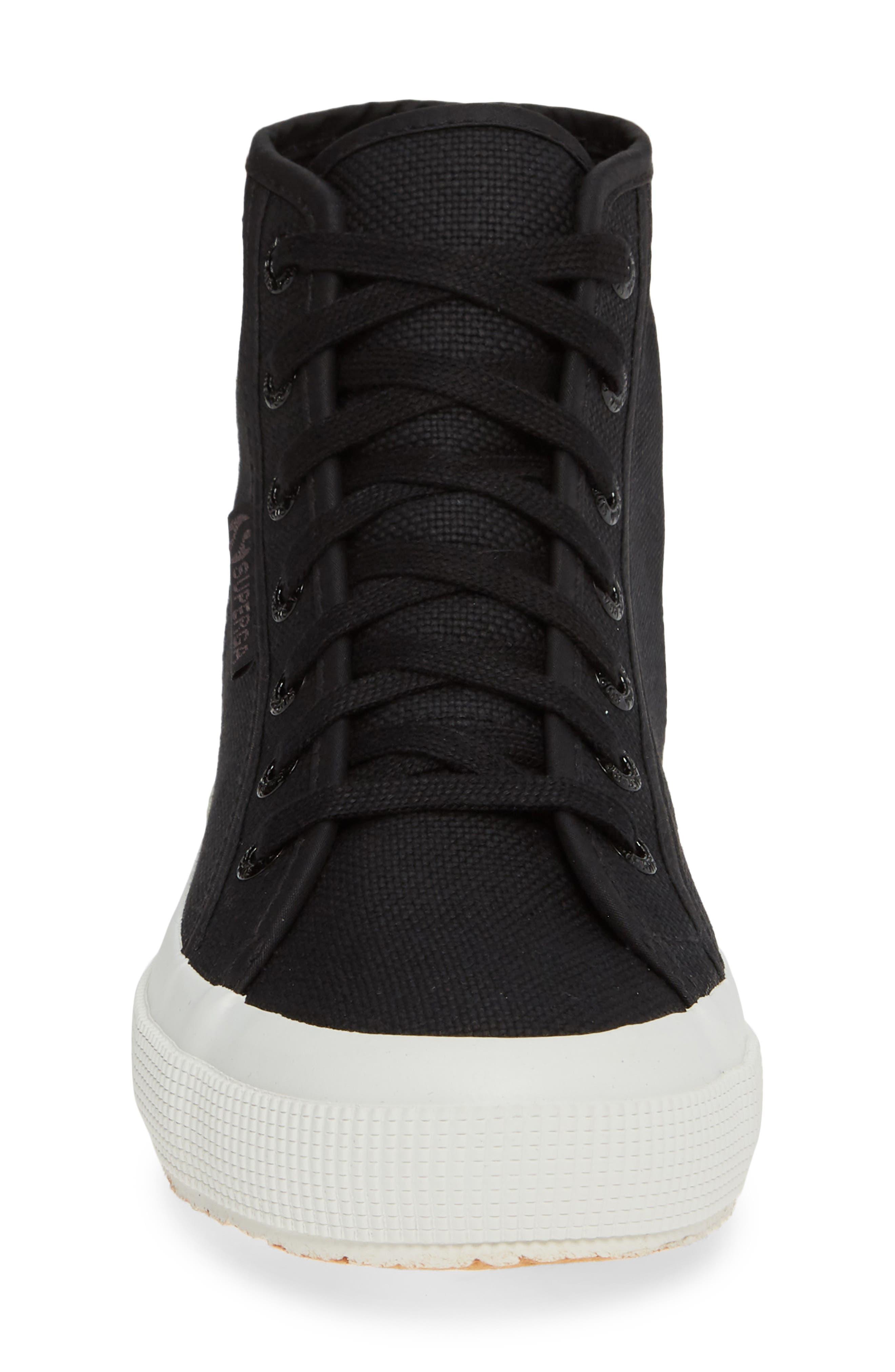2795 High Top Sneaker,                             Alternate thumbnail 4, color,                             BLACK/ WHITE