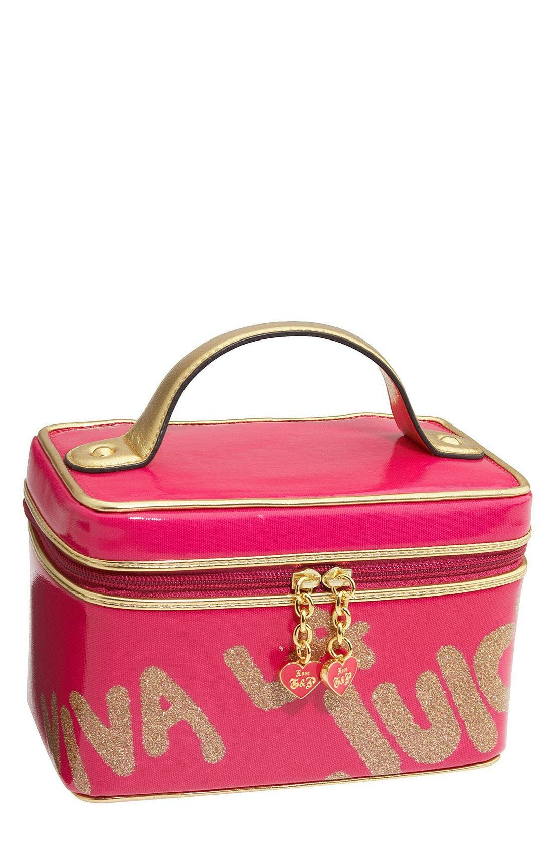 'Viva la Juicy' Cosmetics Case,                             Main thumbnail 1, color,                             659