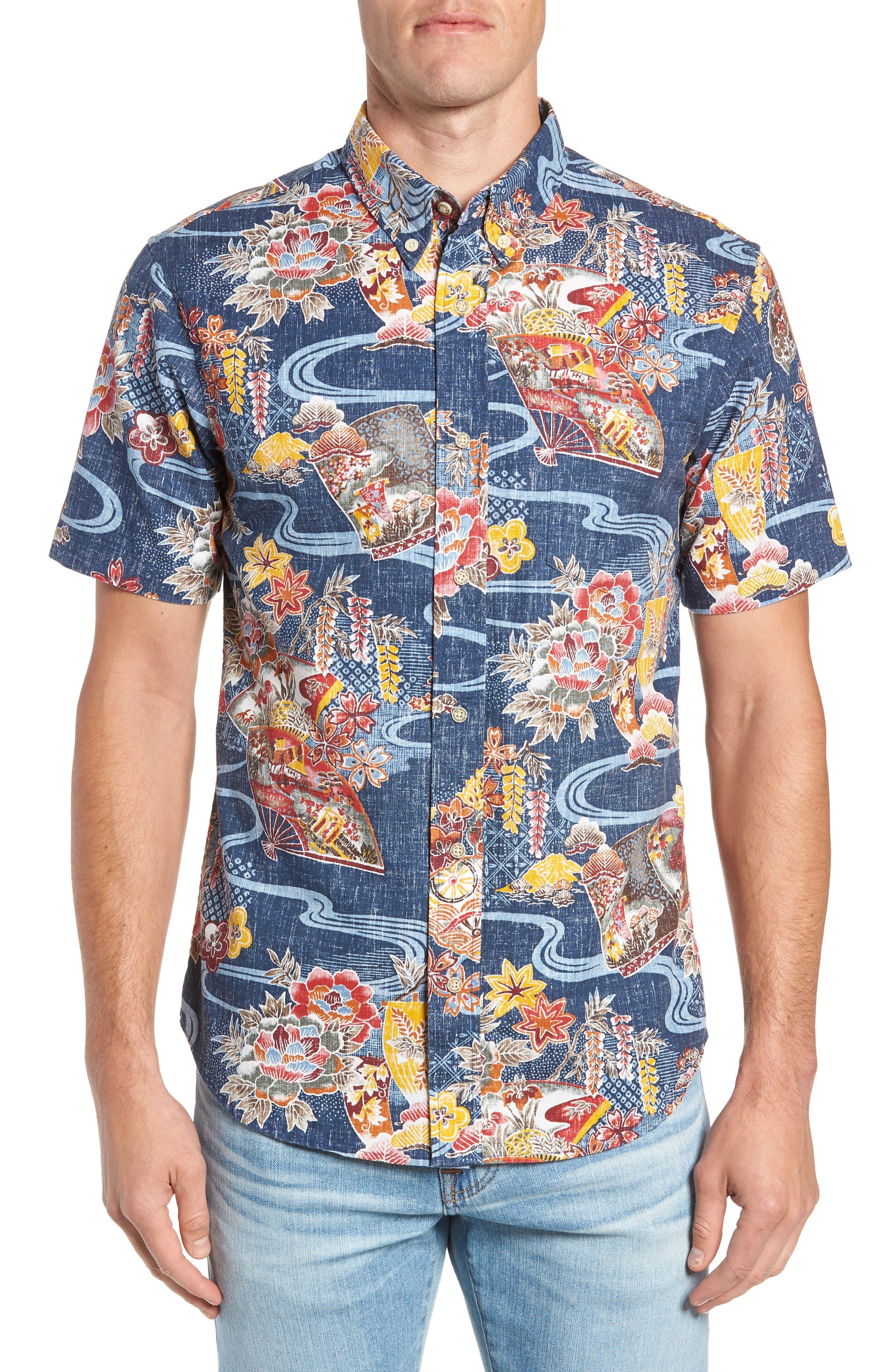 Reyn Spooner Mizu No Kokoro Regular Fit Sport Shirt, Blue