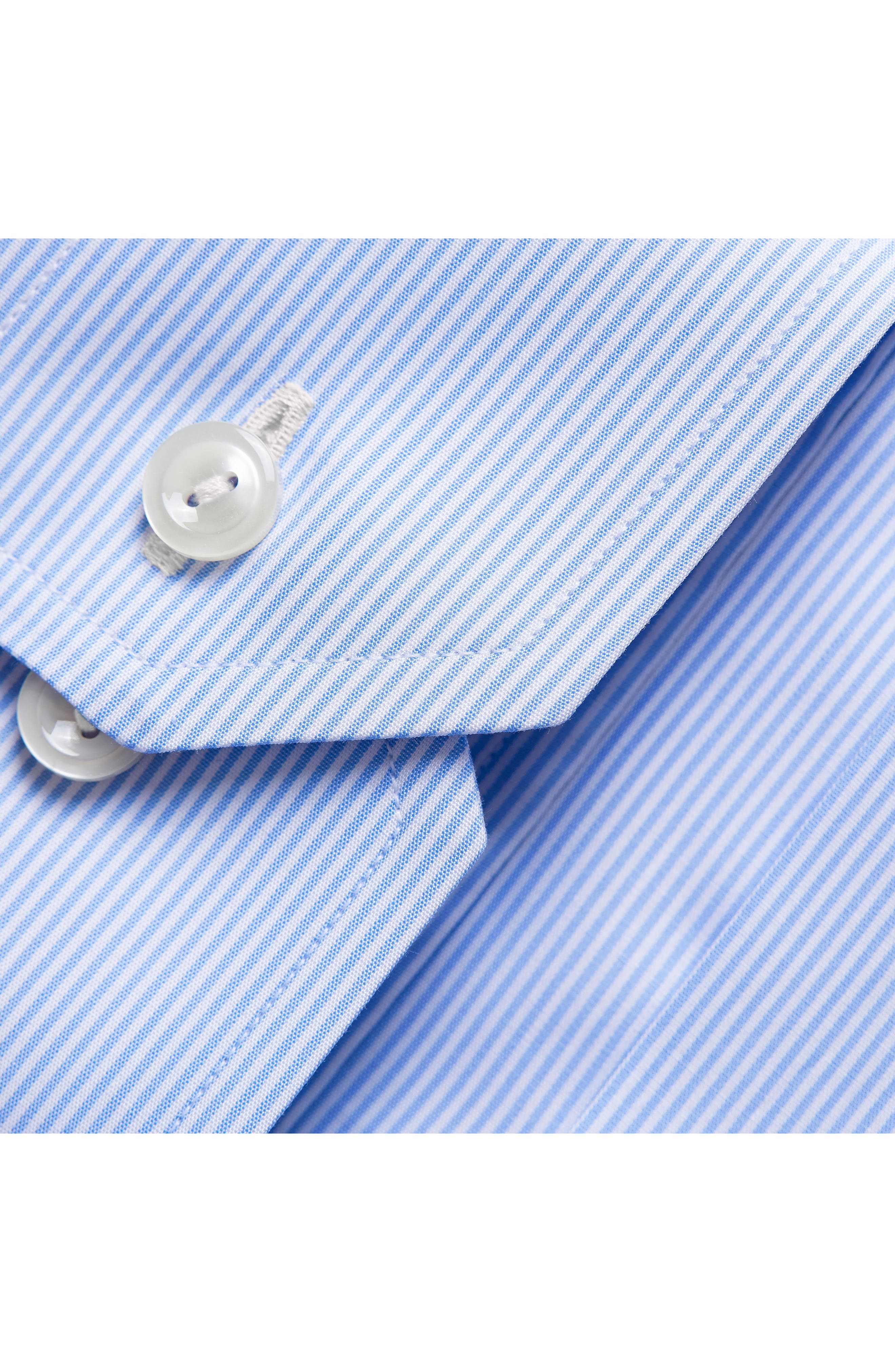 Contemporary Fit Stripe Dress Shirt,                             Alternate thumbnail 3, color,                             BLUE