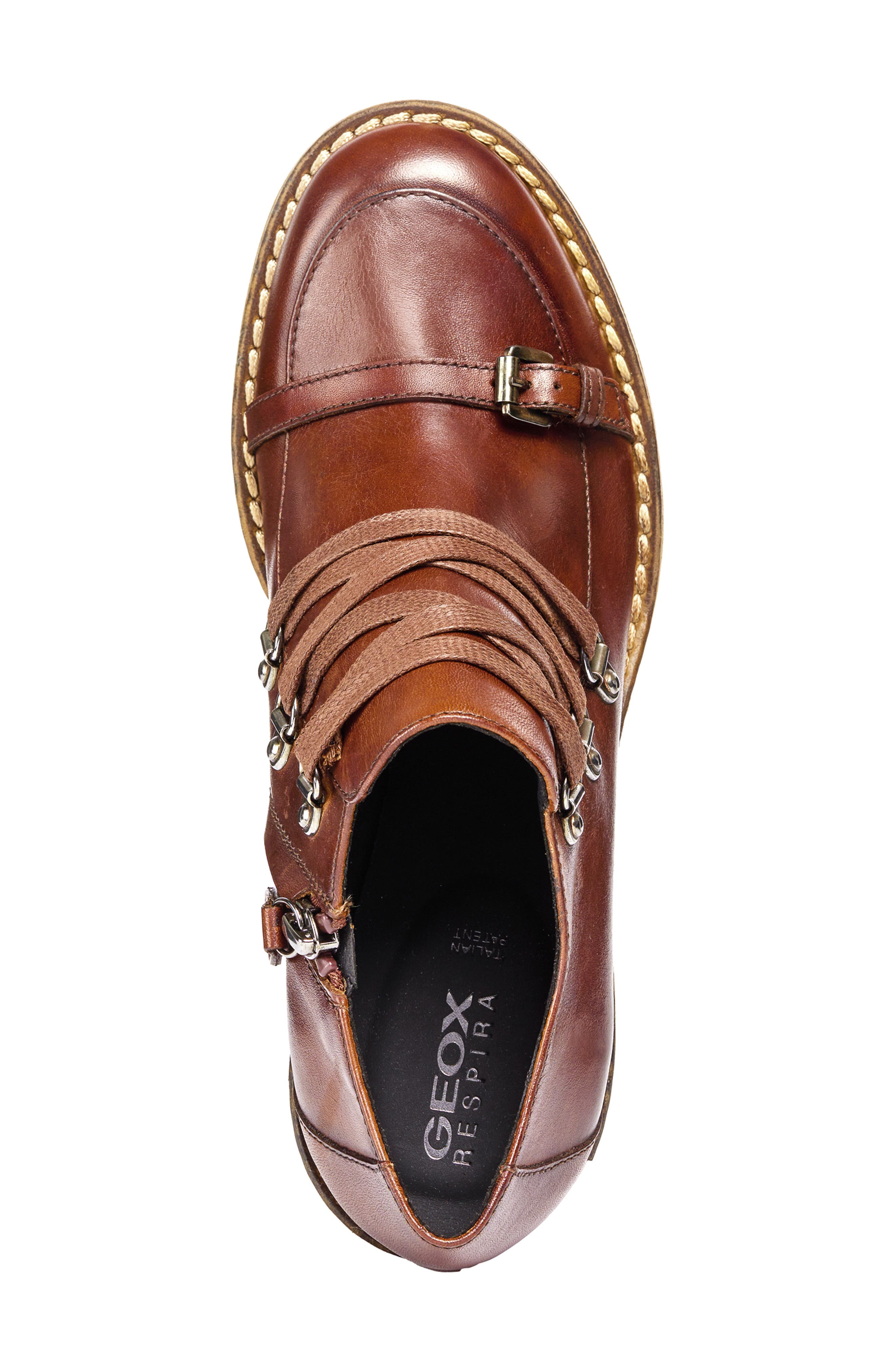 Adrya Bootie,                             Alternate thumbnail 4, color,                             BROWN LEATHER