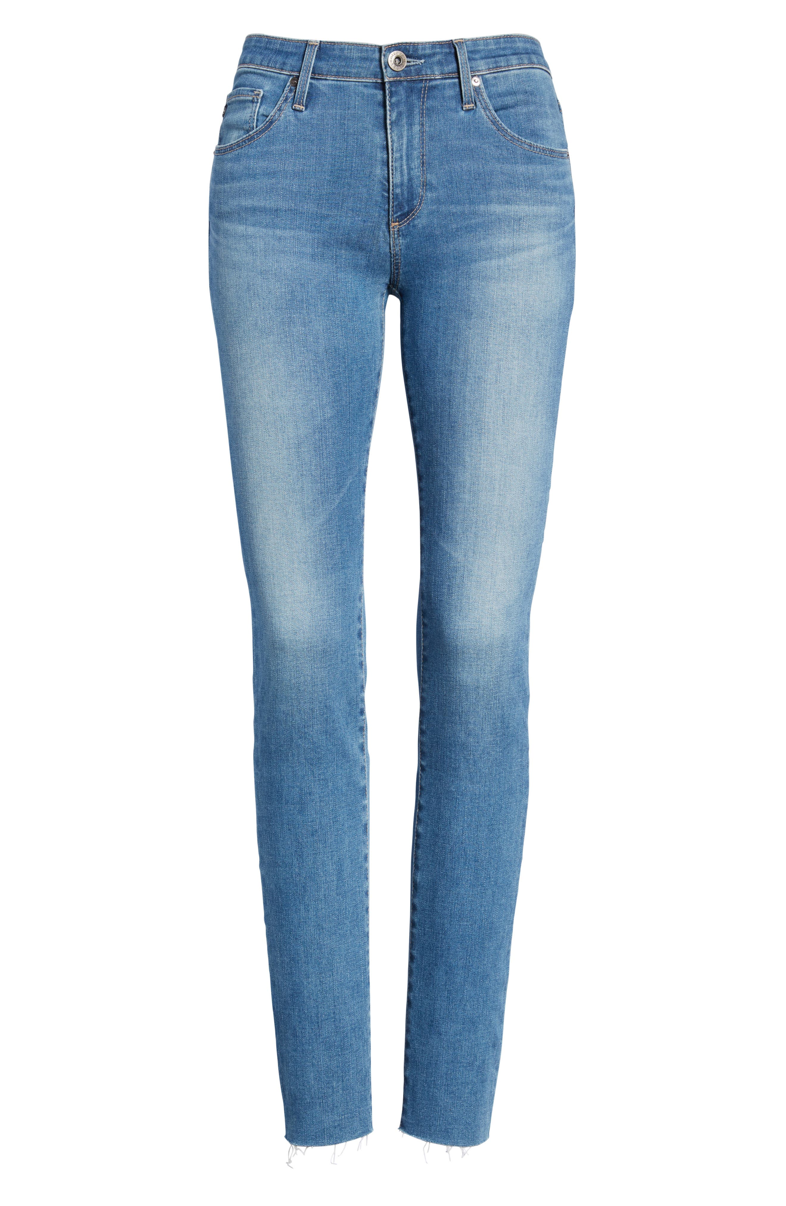 Hoxton High Waist Ankle Peg Jeans,                             Alternate thumbnail 7, color,                             KAYSON DISTRESSED