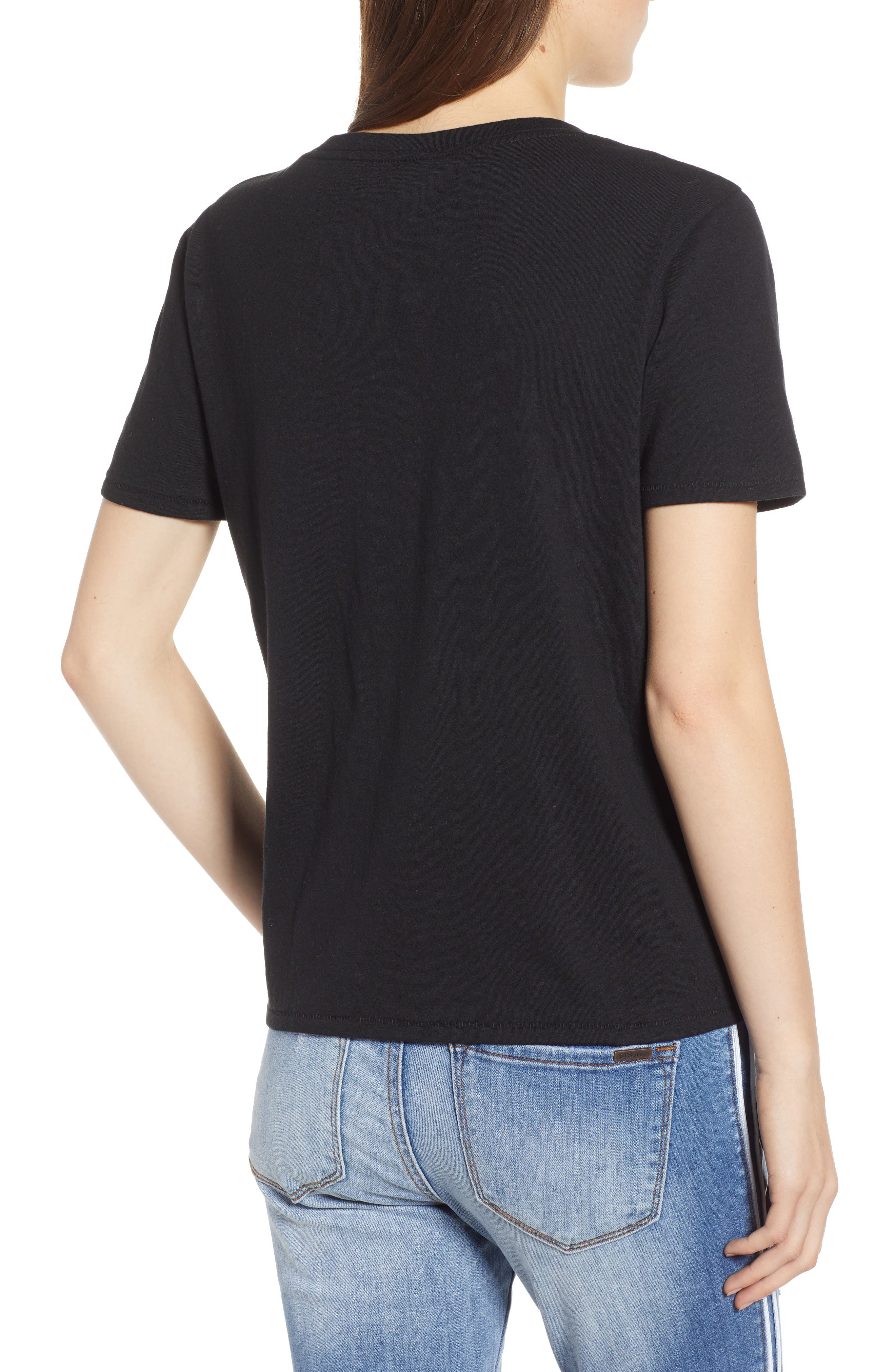 BP.,                             V-Neck Tee,                             Alternate thumbnail 2, color,                             BLACK