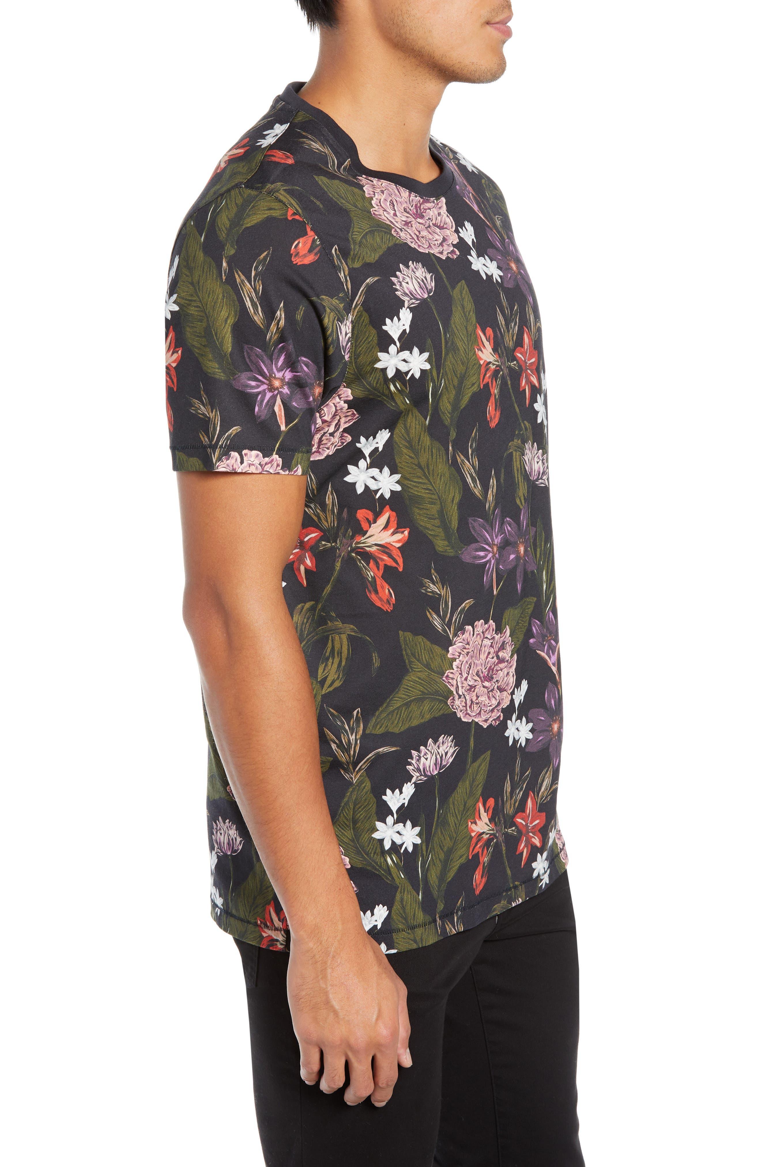Glee Slim Fit Print T-Shirt,                             Alternate thumbnail 3, color,                             NAVY