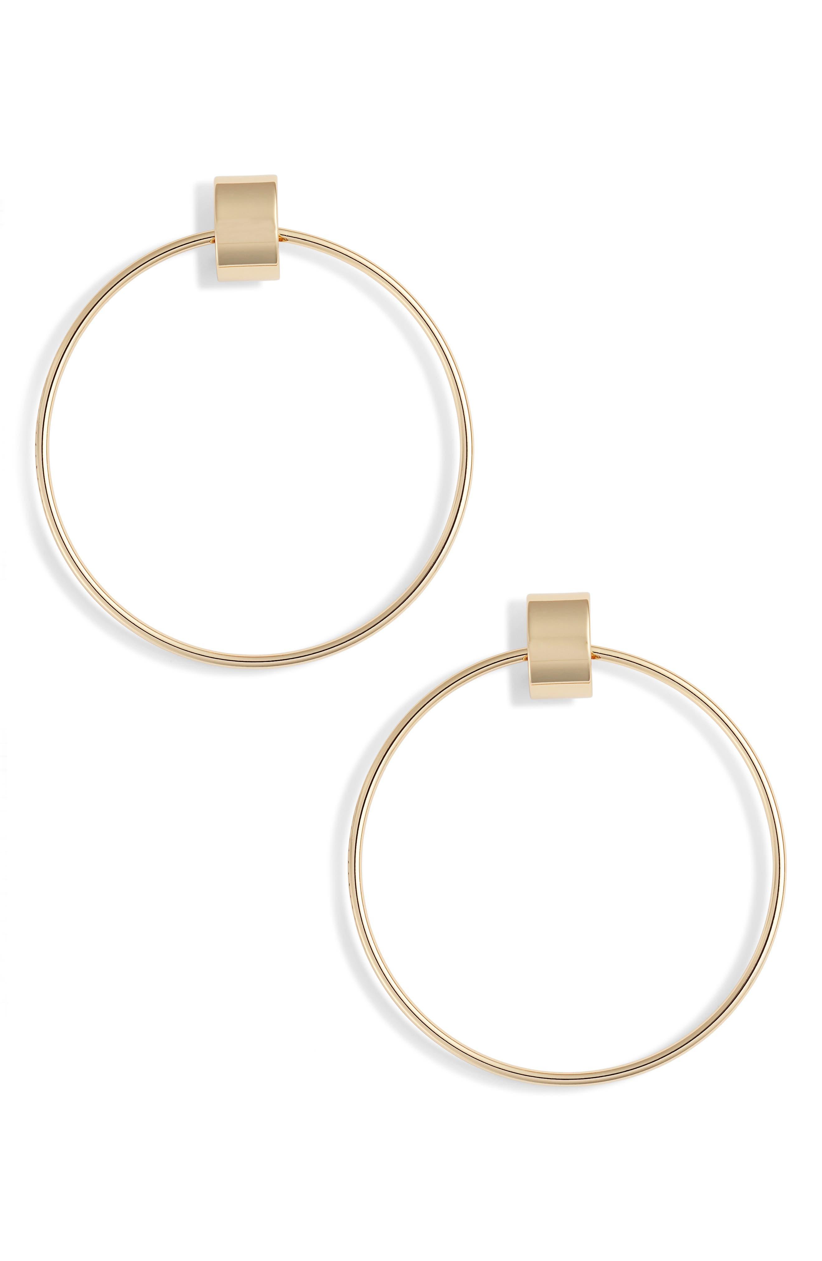 Faye Door Knocker Earrings in Gold