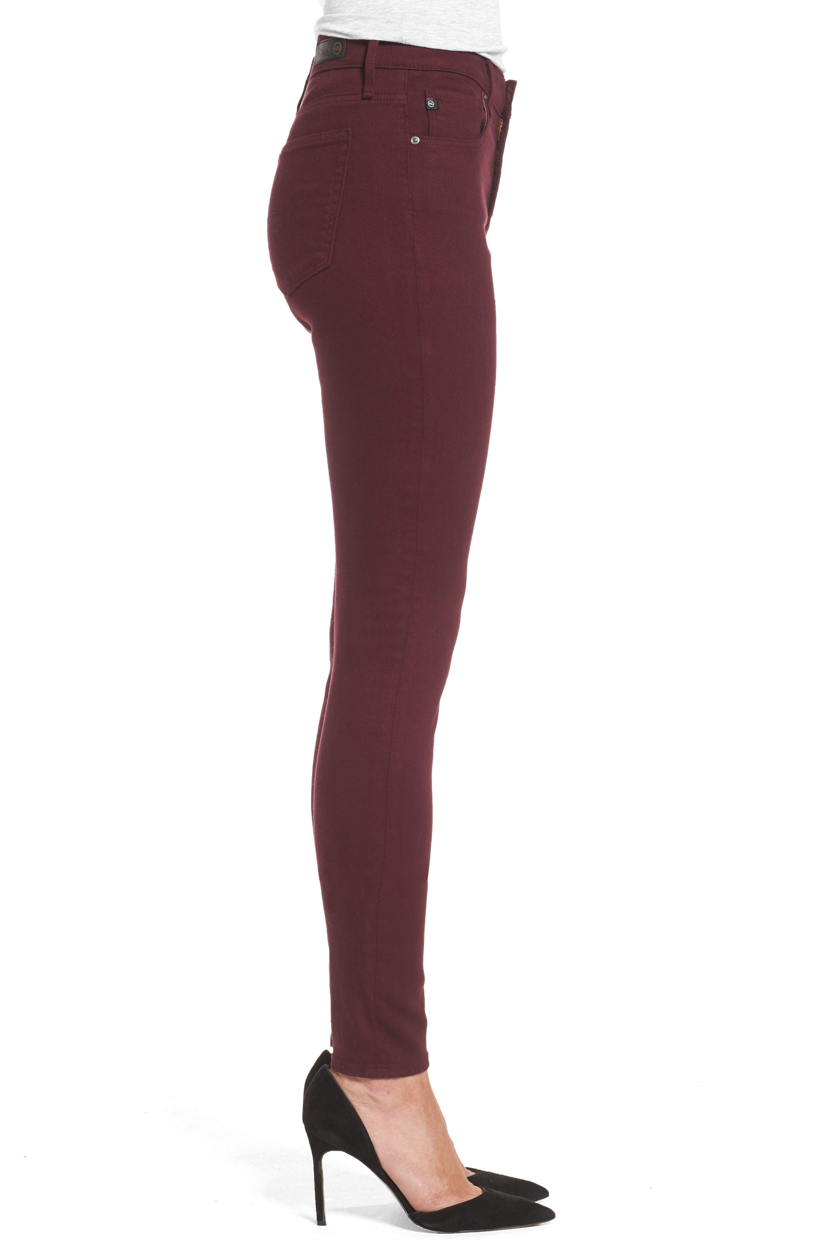AG,                             Farrah High Waist Skinny Jeans,                             Alternate thumbnail 3, color,                             609