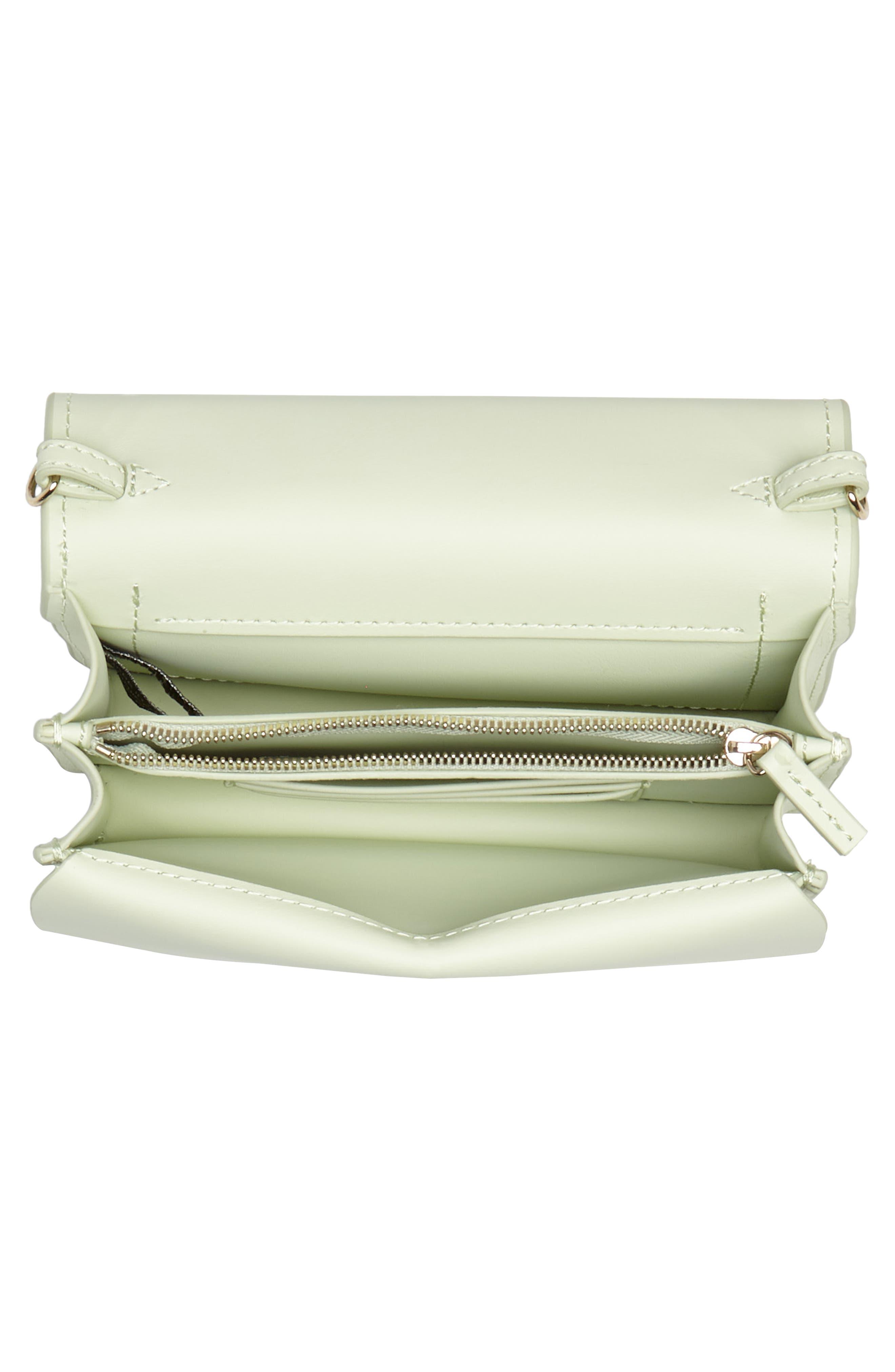 Earthette Leather Accordion Crossbody Bag,                             Alternate thumbnail 4, color,