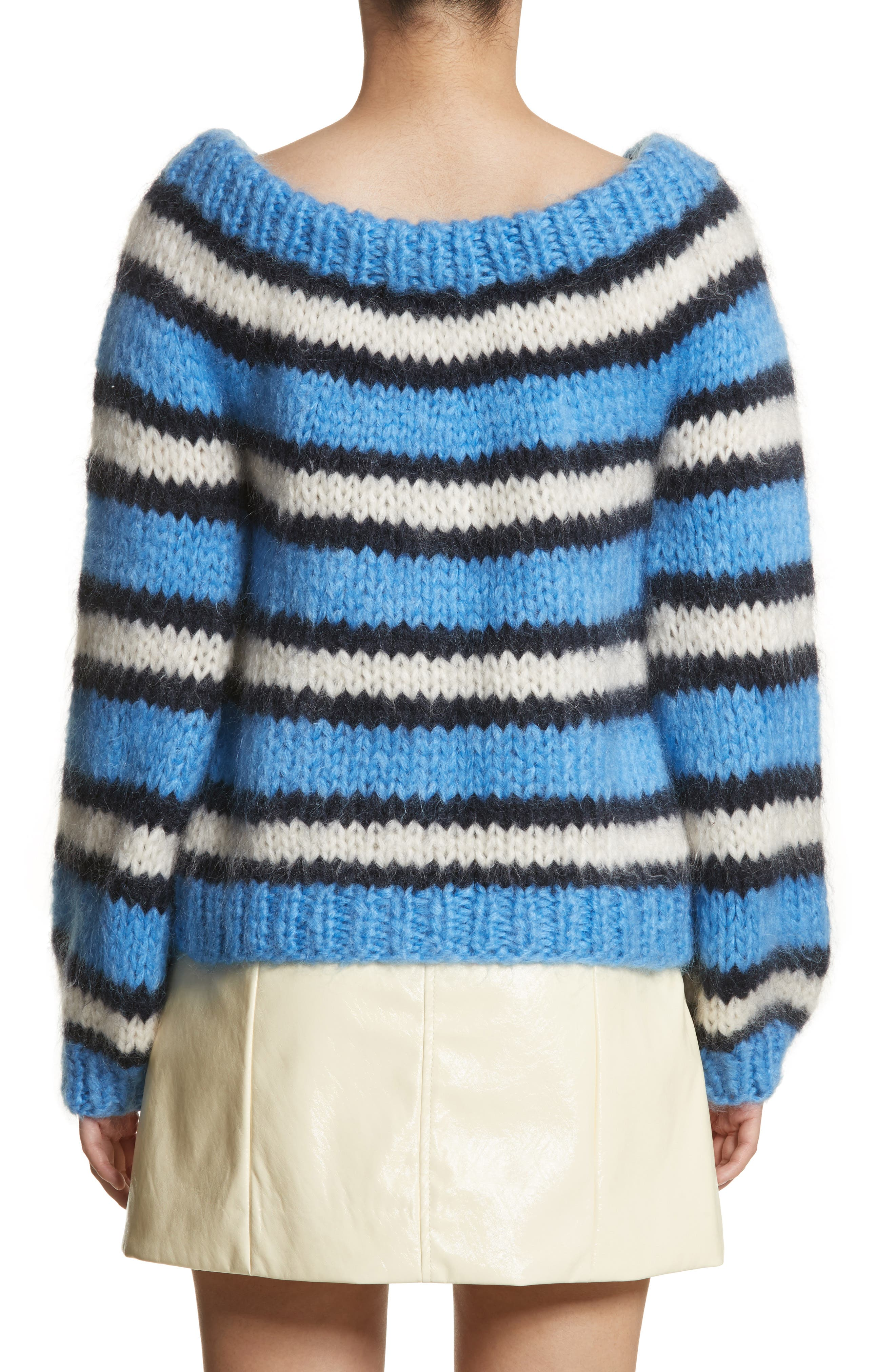 Juilliard Stripe Mohair & Wool Sweater,                             Alternate thumbnail 2, color,                             400
