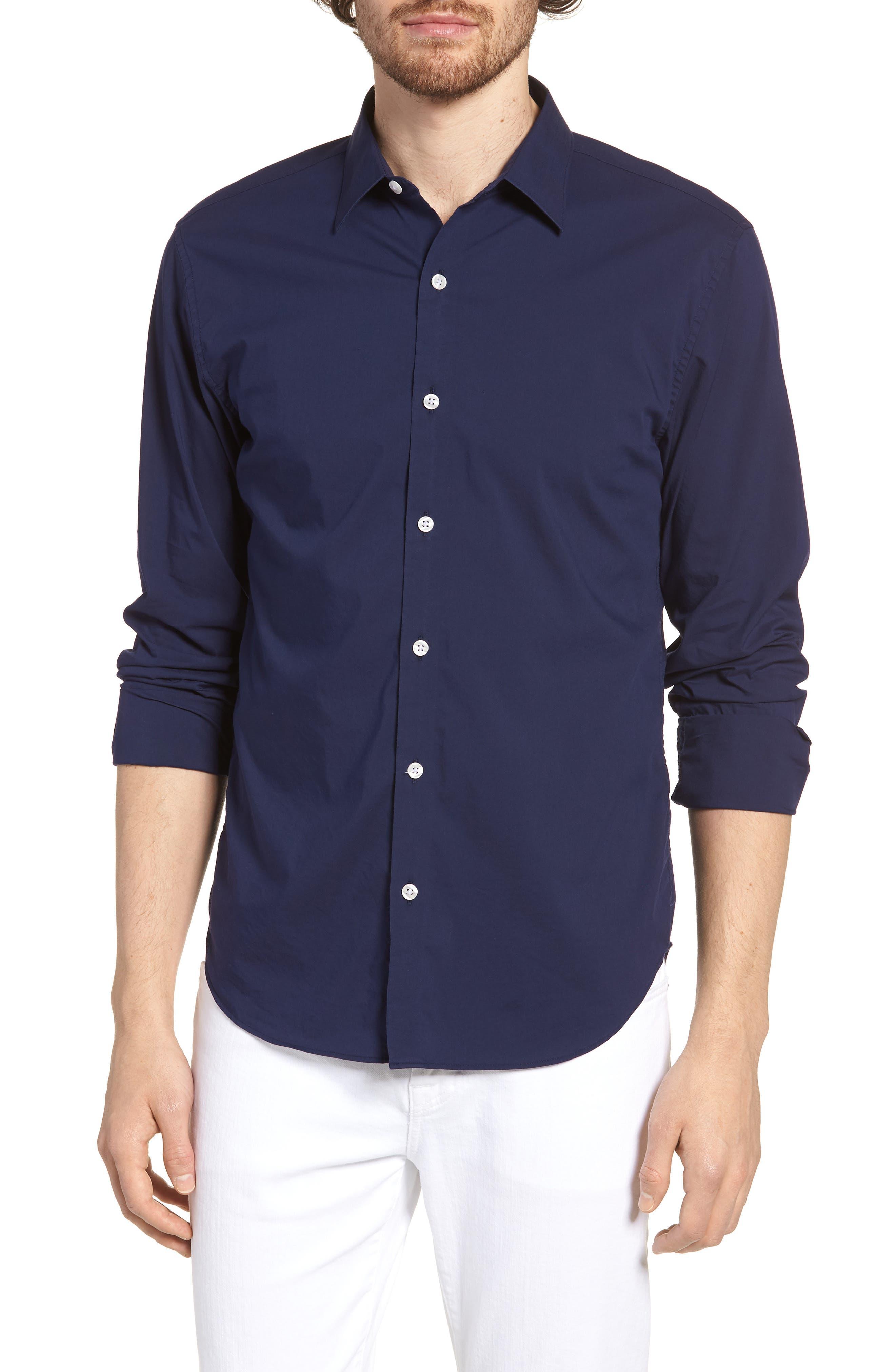 Unbutton Down 2.0 Slim Fit Sport Shirt,                             Main thumbnail 4, color,
