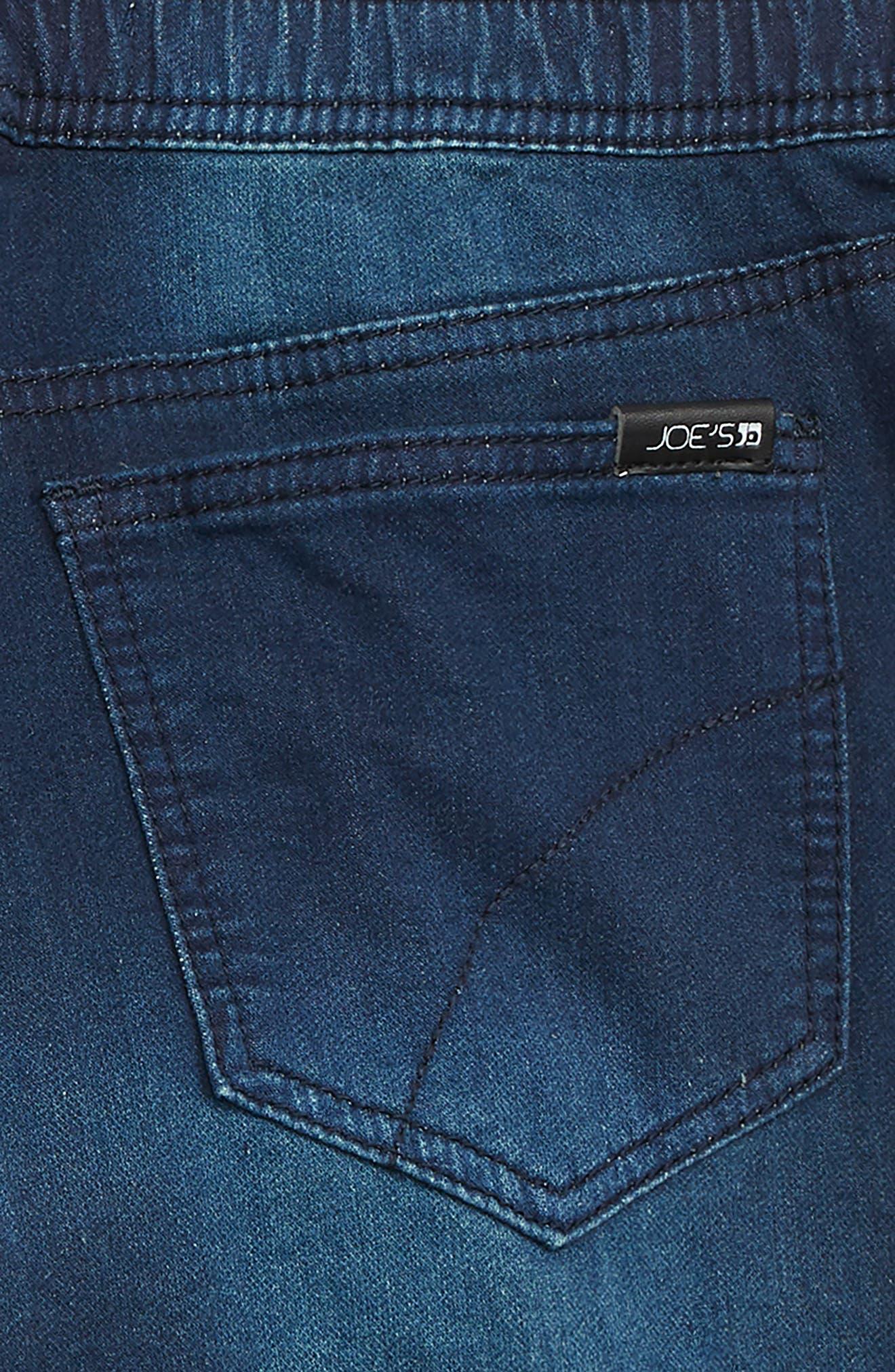 Denim Jogger Shorts,                             Alternate thumbnail 3, color,                             NILE WASH