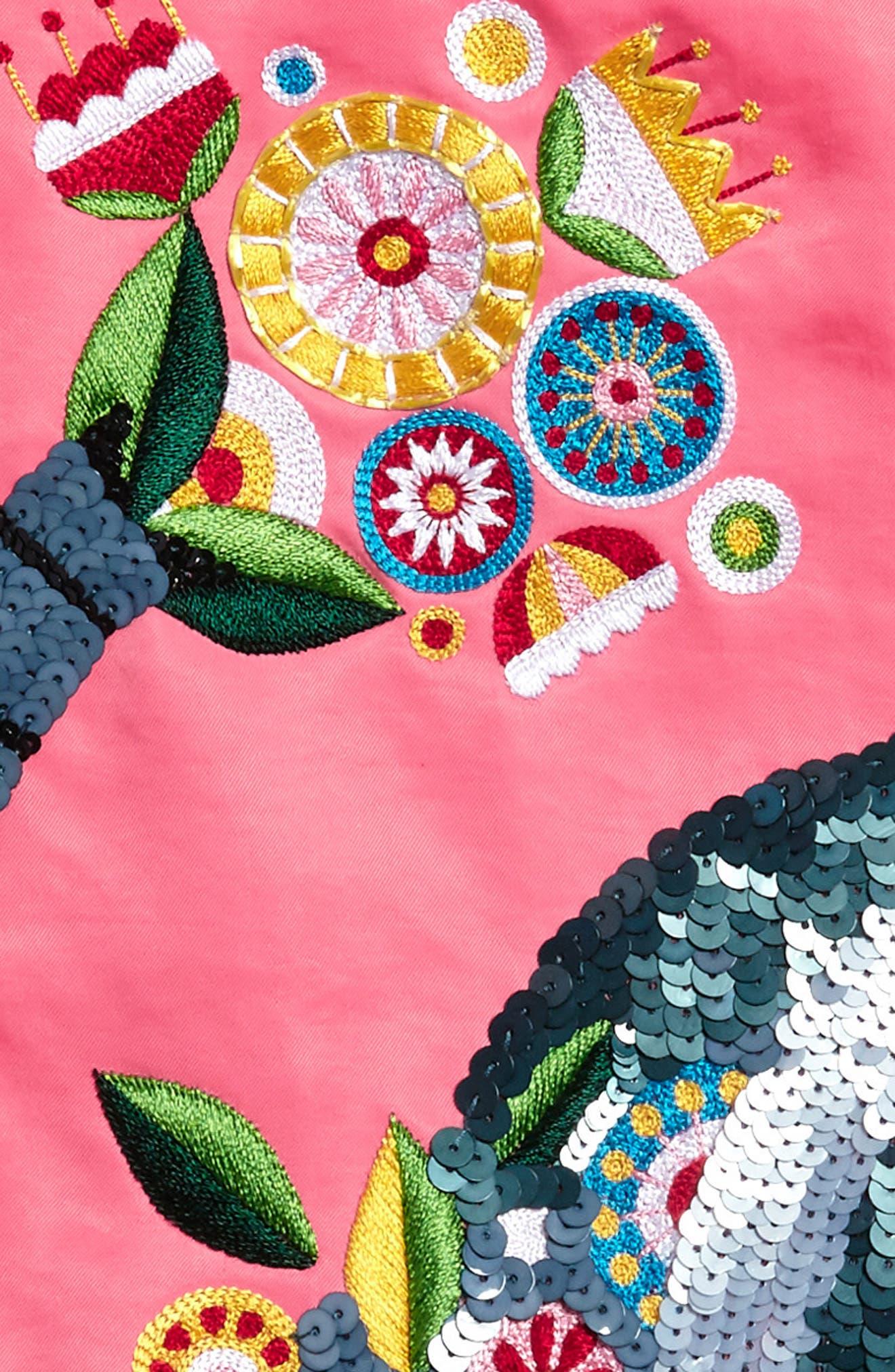 Beaded Elephant Shift Dress,                             Alternate thumbnail 3, color,                             950