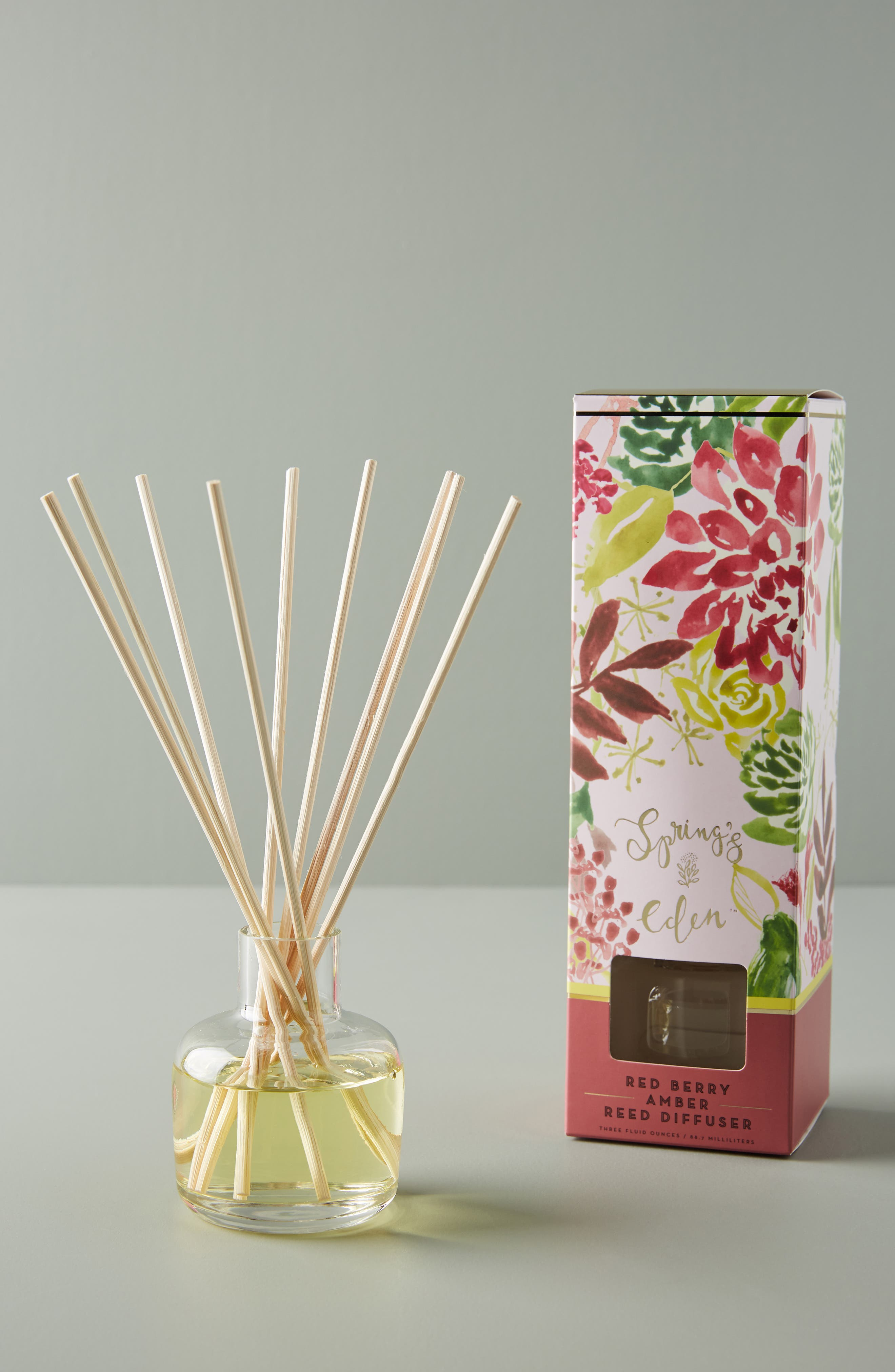 Spring's Eden Reed Diffuser,                             Alternate thumbnail 2, color,                             RED BERRY AMBER