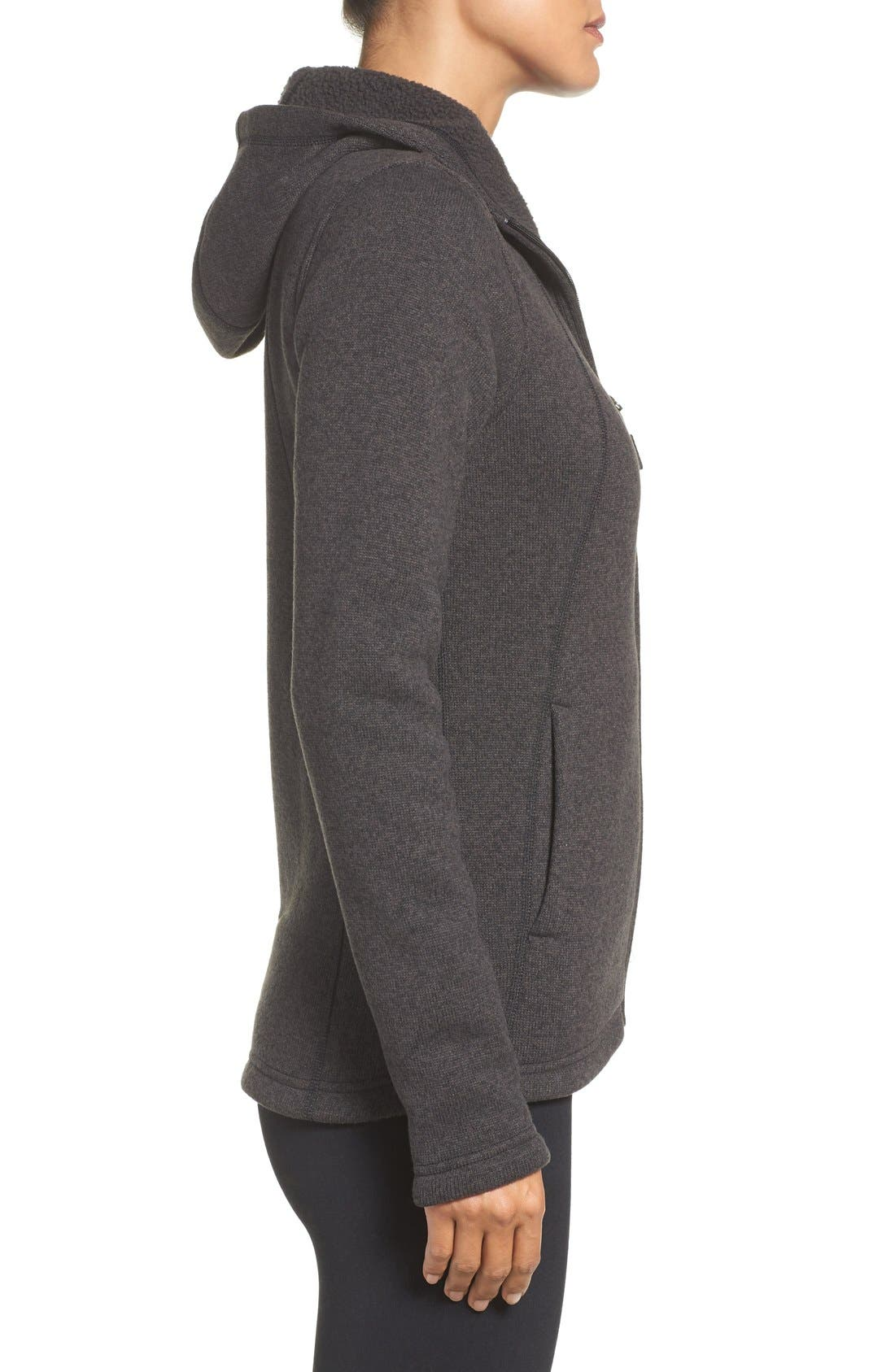 'Crescent' Fleece Jacket,                             Alternate thumbnail 23, color,