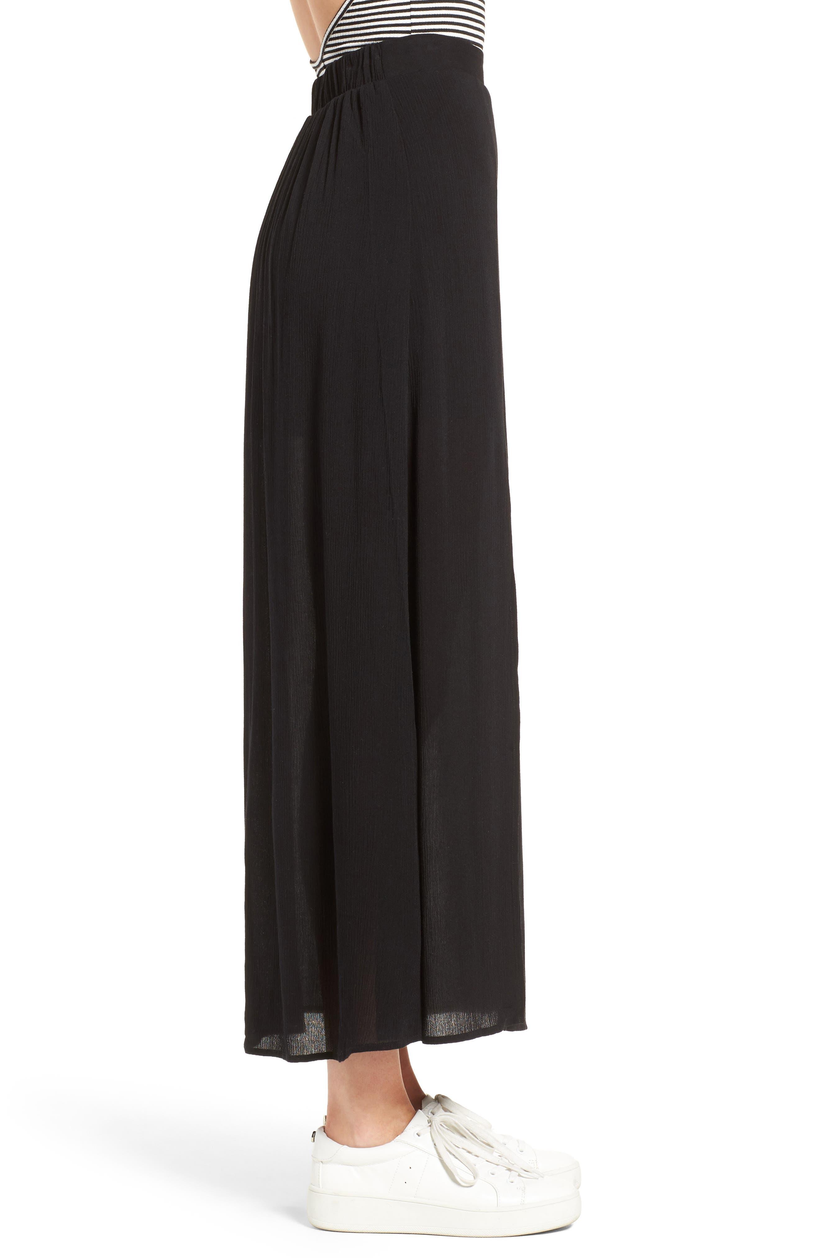 Slit Maxi Skirt,                             Alternate thumbnail 3, color,                             001