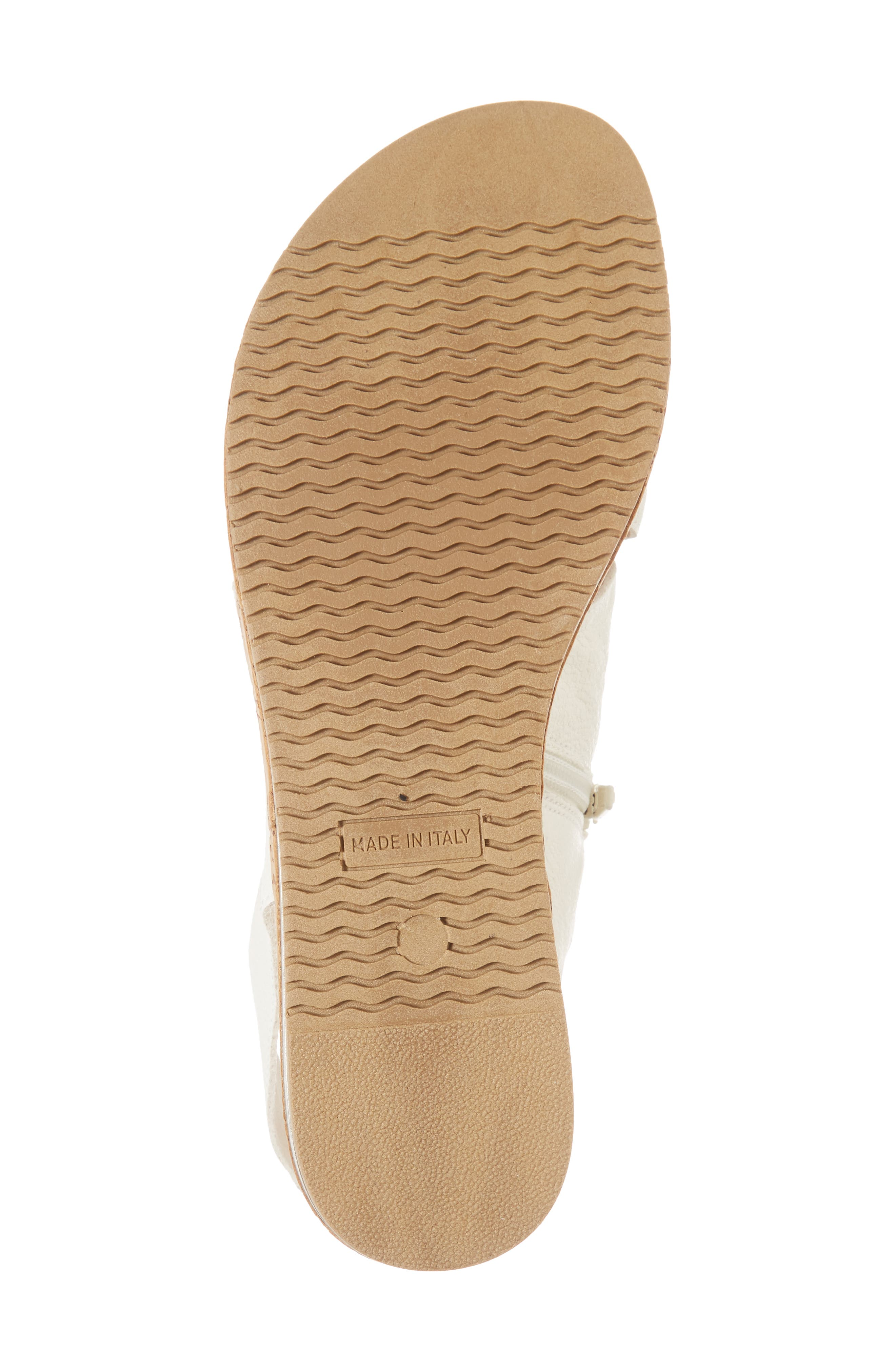 Sylke Sandal,                             Alternate thumbnail 6, color,                             WHITE LEATHER