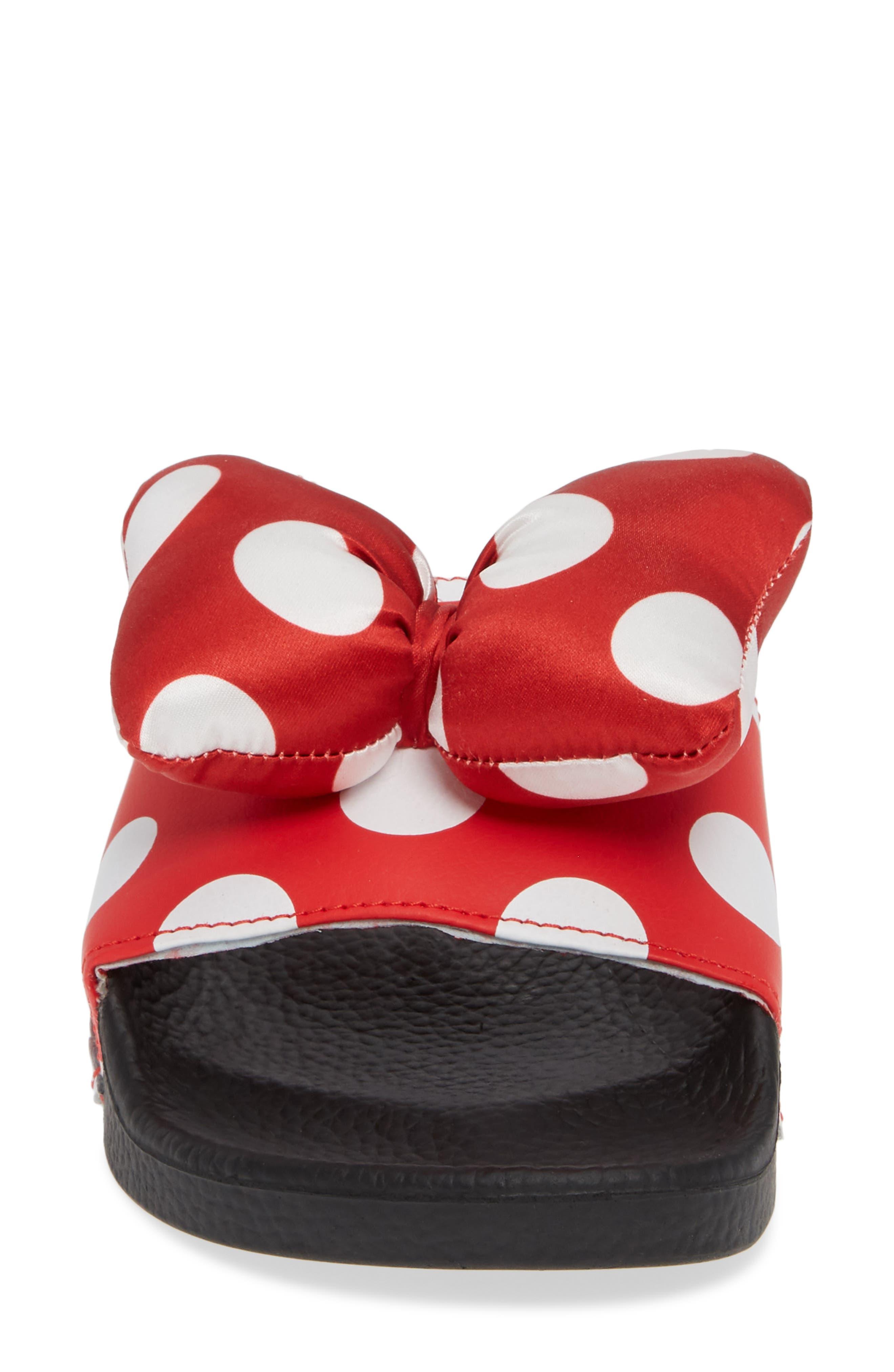 x Disney Minnie Mouse Slide Sandal,                             Alternate thumbnail 4, color,                             600