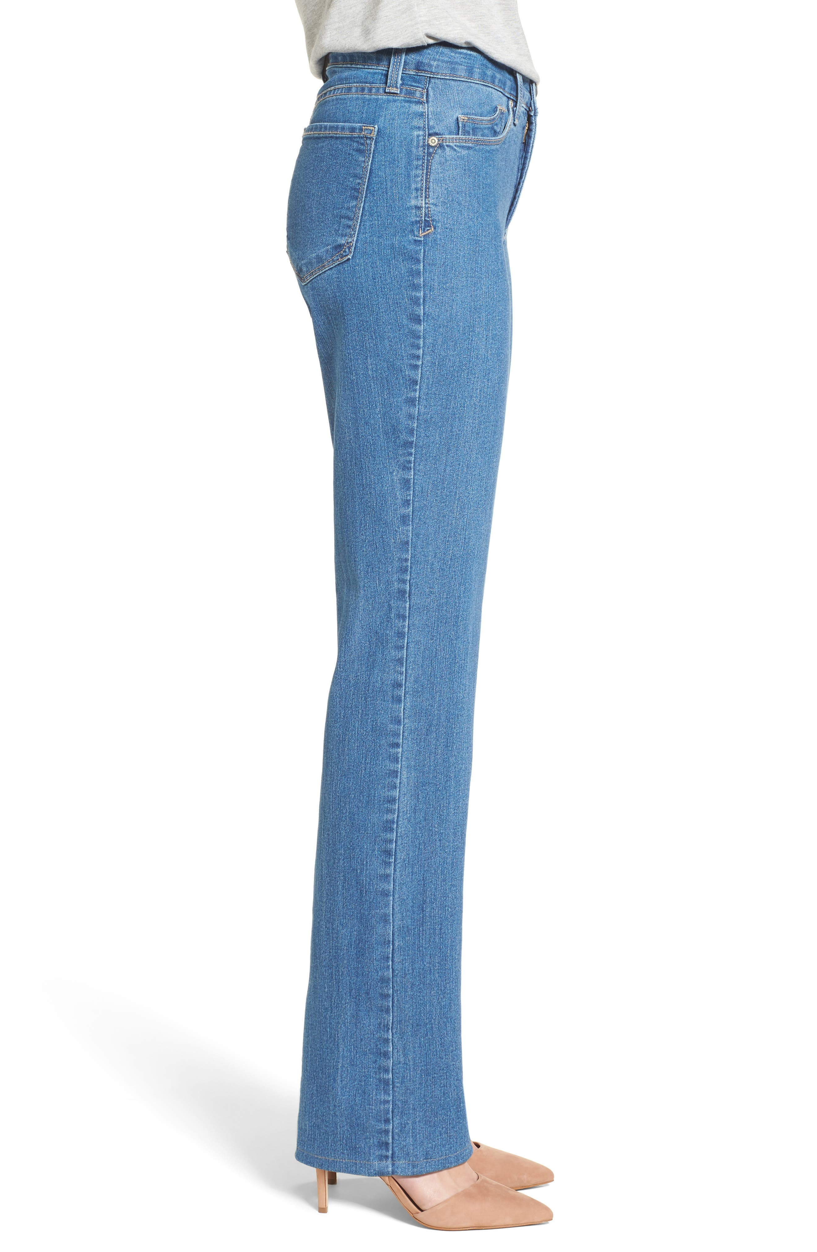 Marilyn Stretch Straight Leg Jeans,                             Alternate thumbnail 3, color,                             424