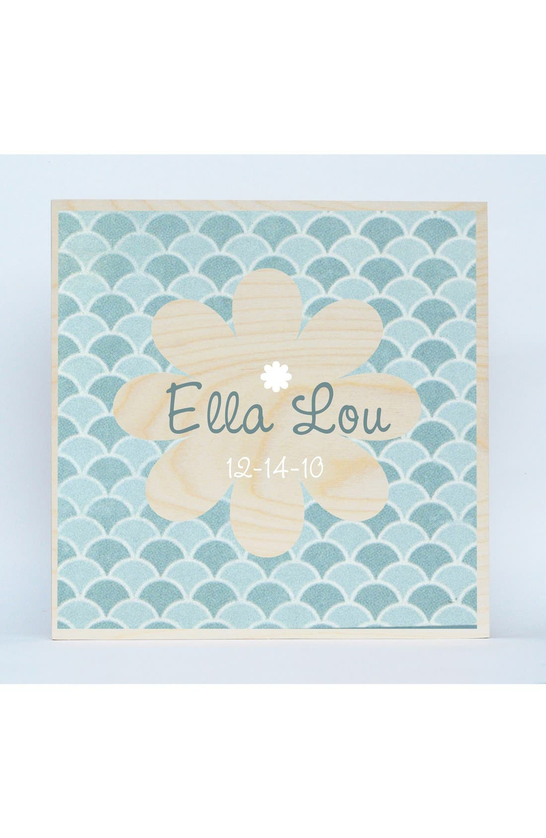 'Flower' Personalized Wall Art,                             Main thumbnail 1, color,