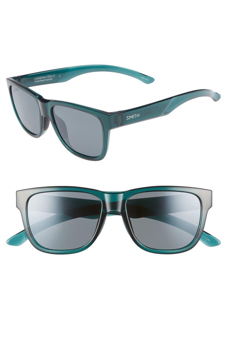 1ea6383d36 Smith Lowdown Slim 2 53mm ChromaPop™ Polarized Square Sunglasses ...