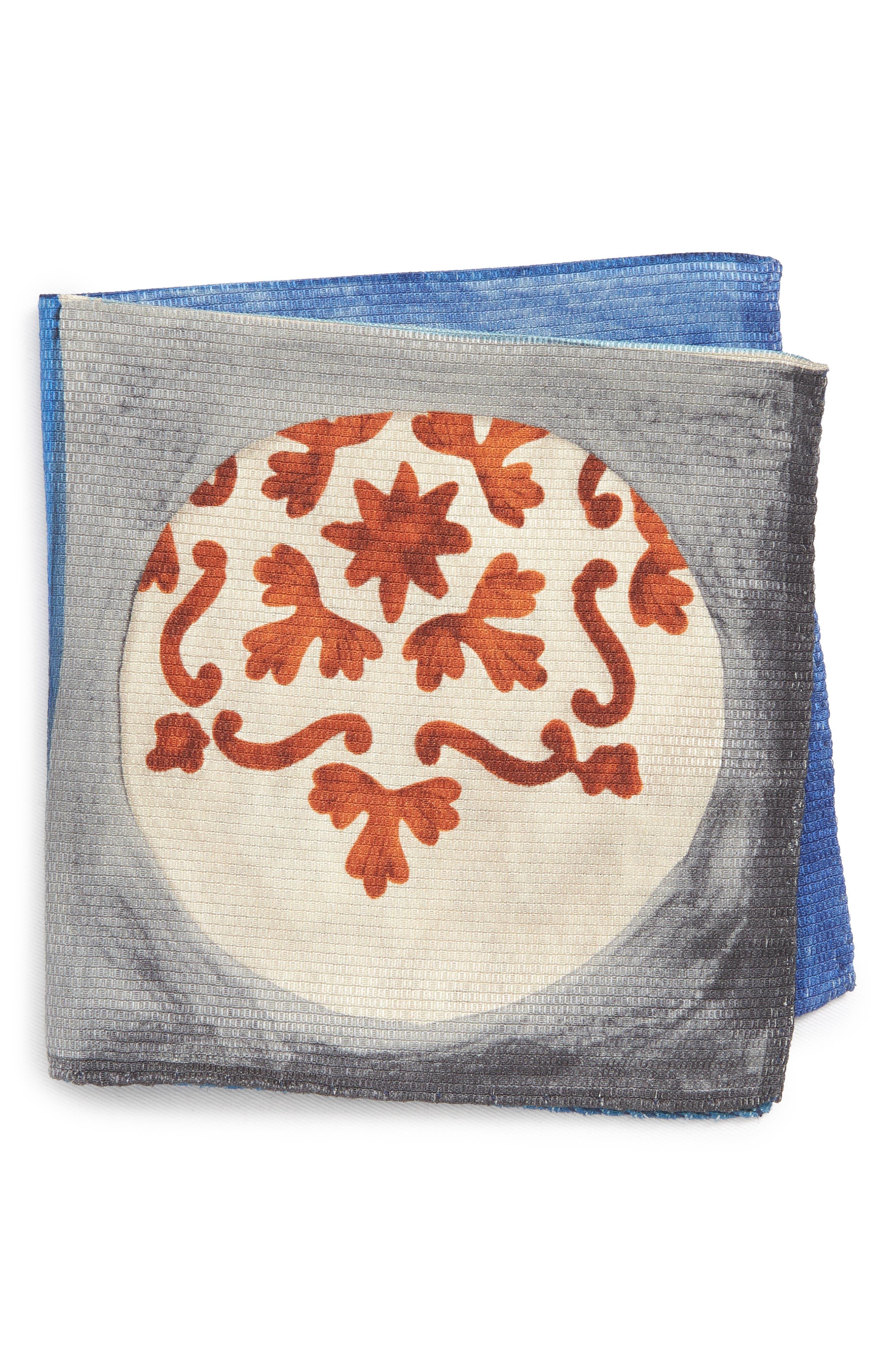 Geometric Ship Silk Pocket Square,                             Main thumbnail 1, color,                             020
