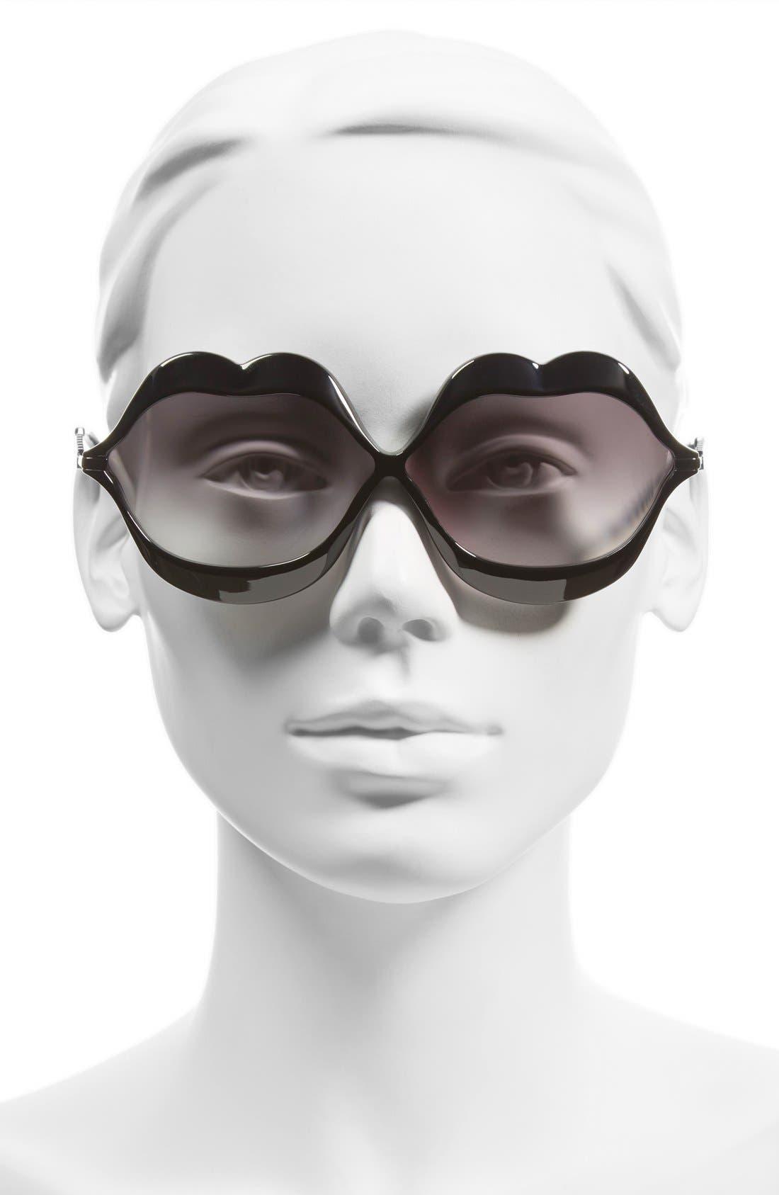 'Lip Service' 65mm Sunglasses,                             Alternate thumbnail 2, color,                             001