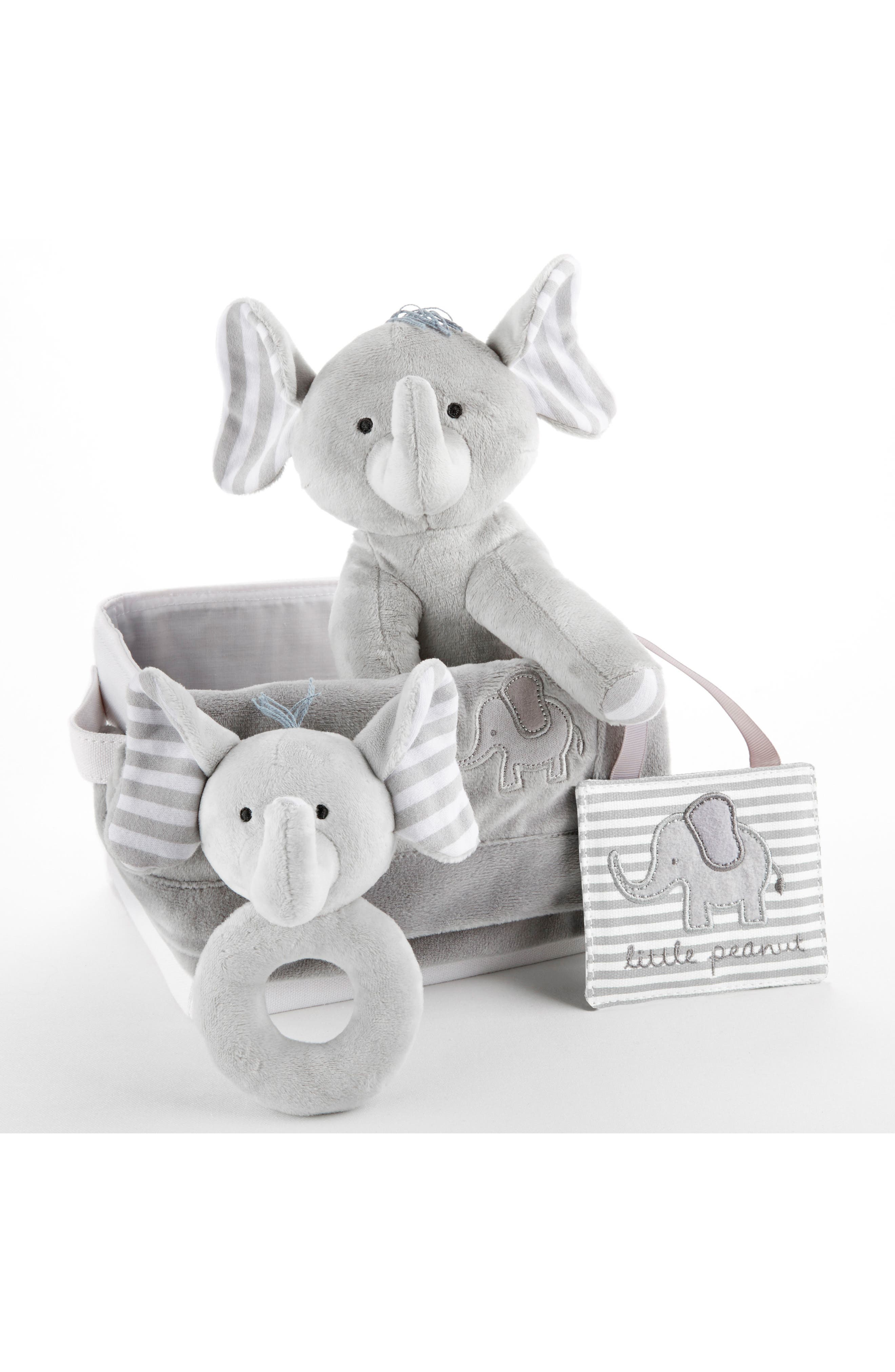 Little Peanut Elephant 5-Piece Gift Set,                             Alternate thumbnail 4, color,                             GREY AND WHITE