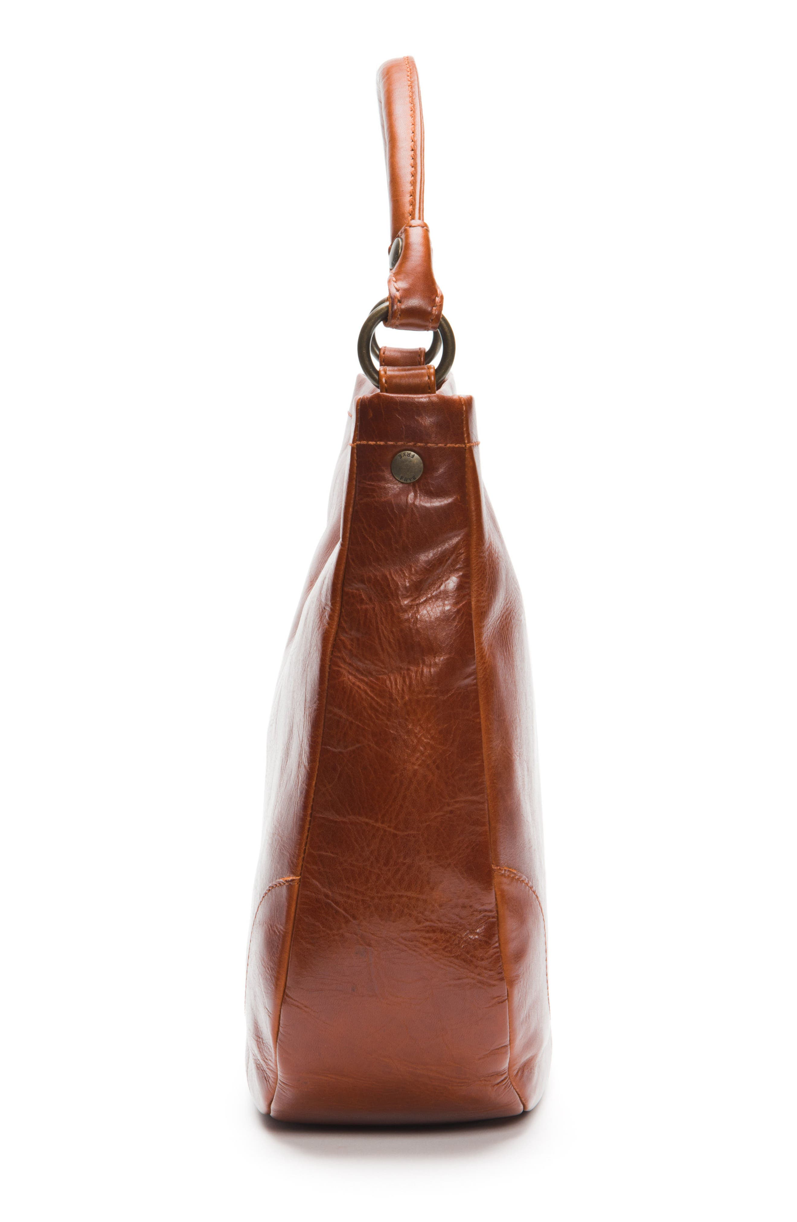 Melissa Leather Hobo,                             Alternate thumbnail 5, color,                             RED CLAY