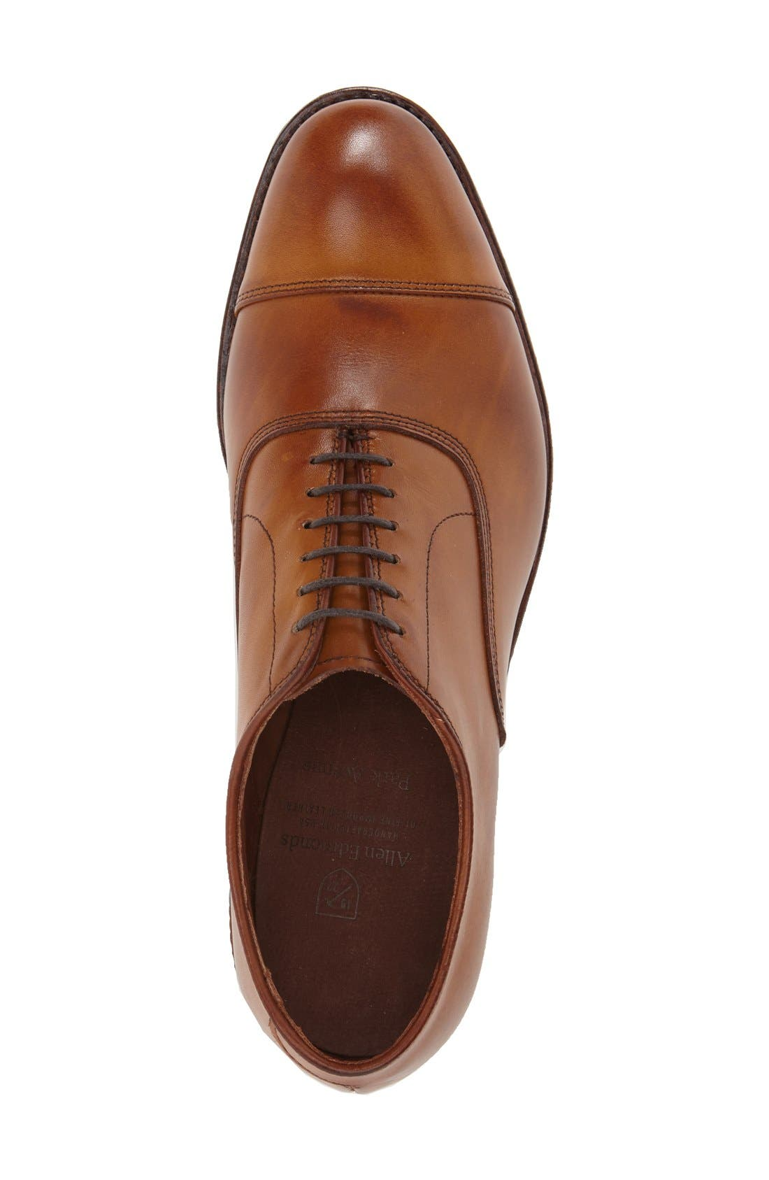 'Park Avenue' Cap Toe Oxford,                             Alternate thumbnail 4, color,                             WALNUT
