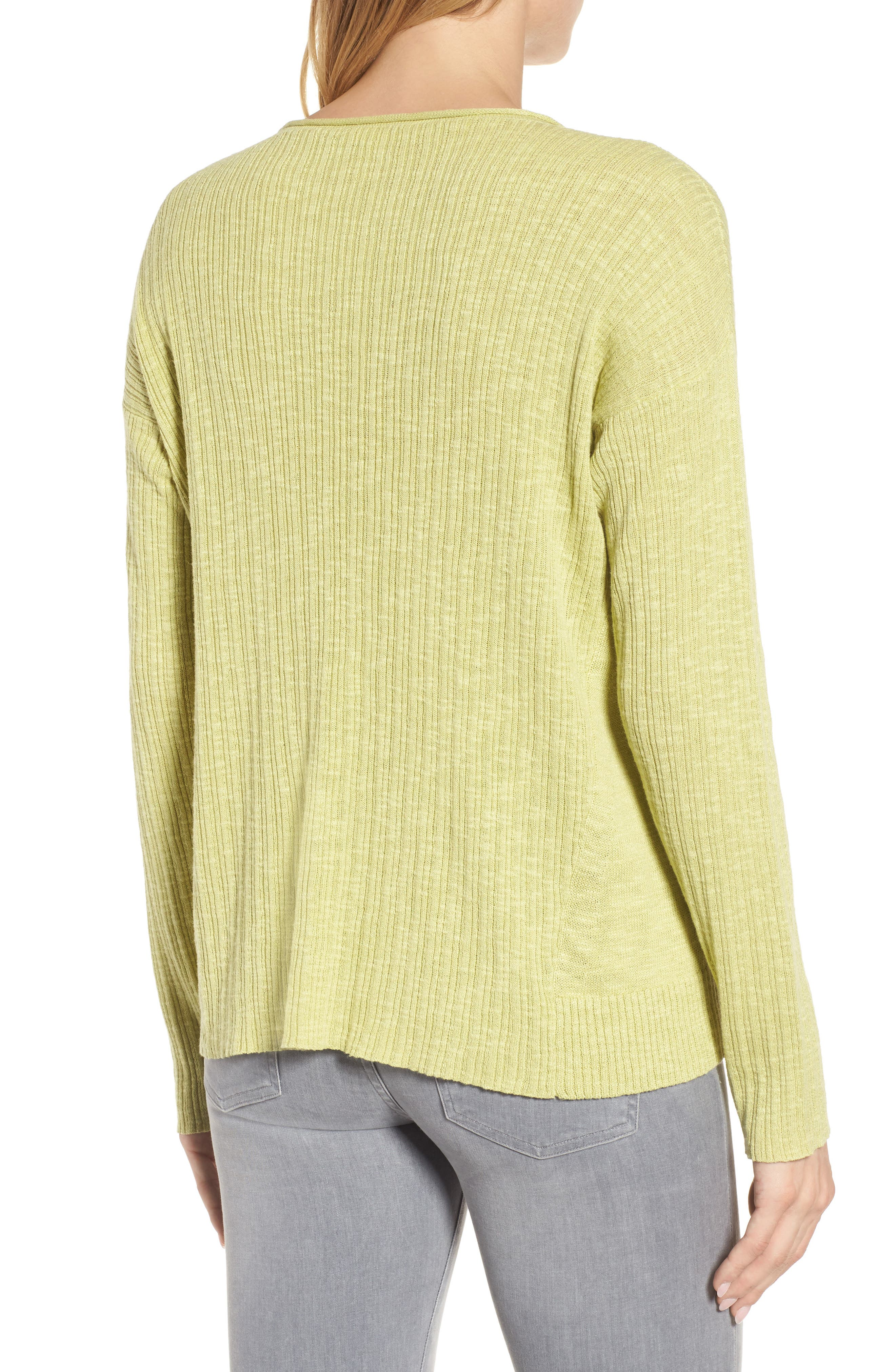 Organic Linen & Cotton Crewneck Sweater,                             Alternate thumbnail 9, color,