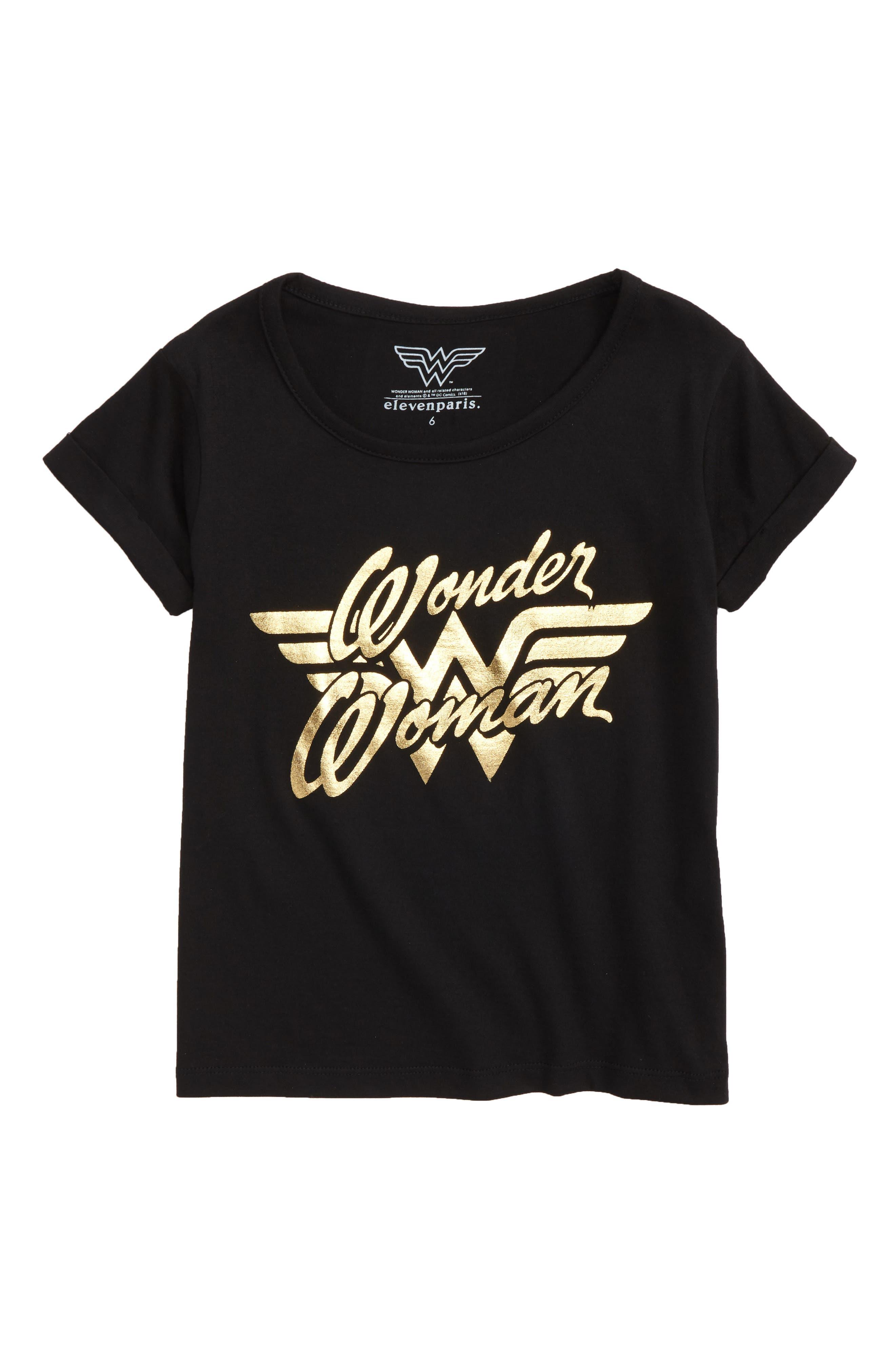Wonder Woman Graphic Tee,                             Main thumbnail 1, color,                             001