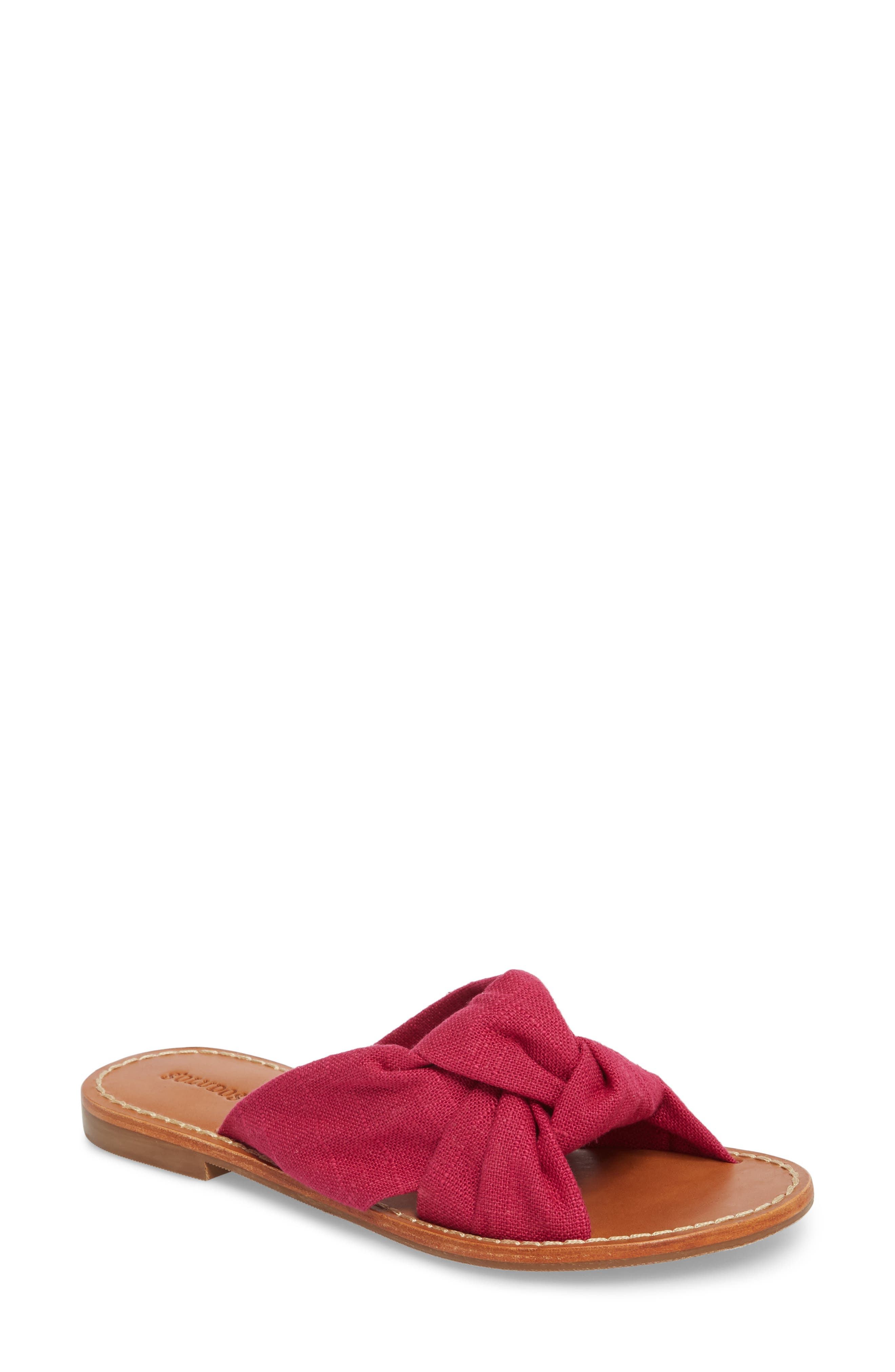 Knotted Slide Sandal,                             Main thumbnail 1, color,