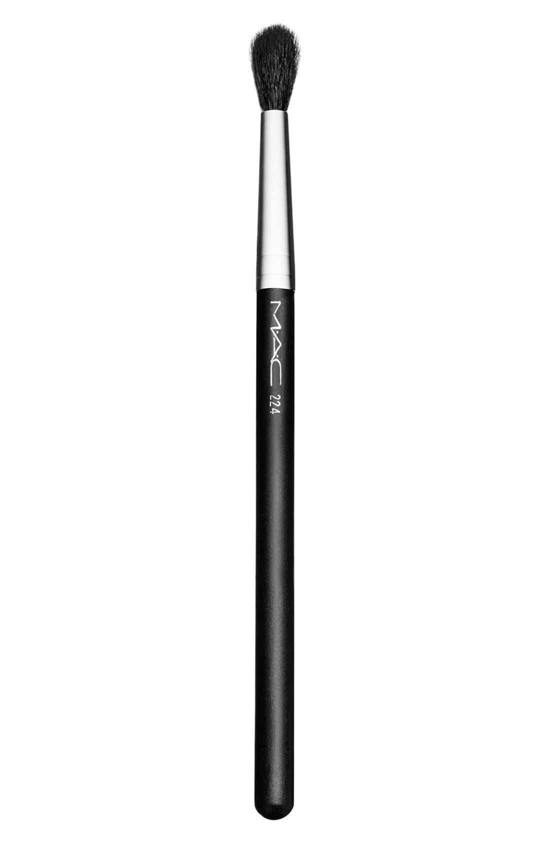 MAC 224 Tapered Blending Brush,                             Main thumbnail 1, color,                             000