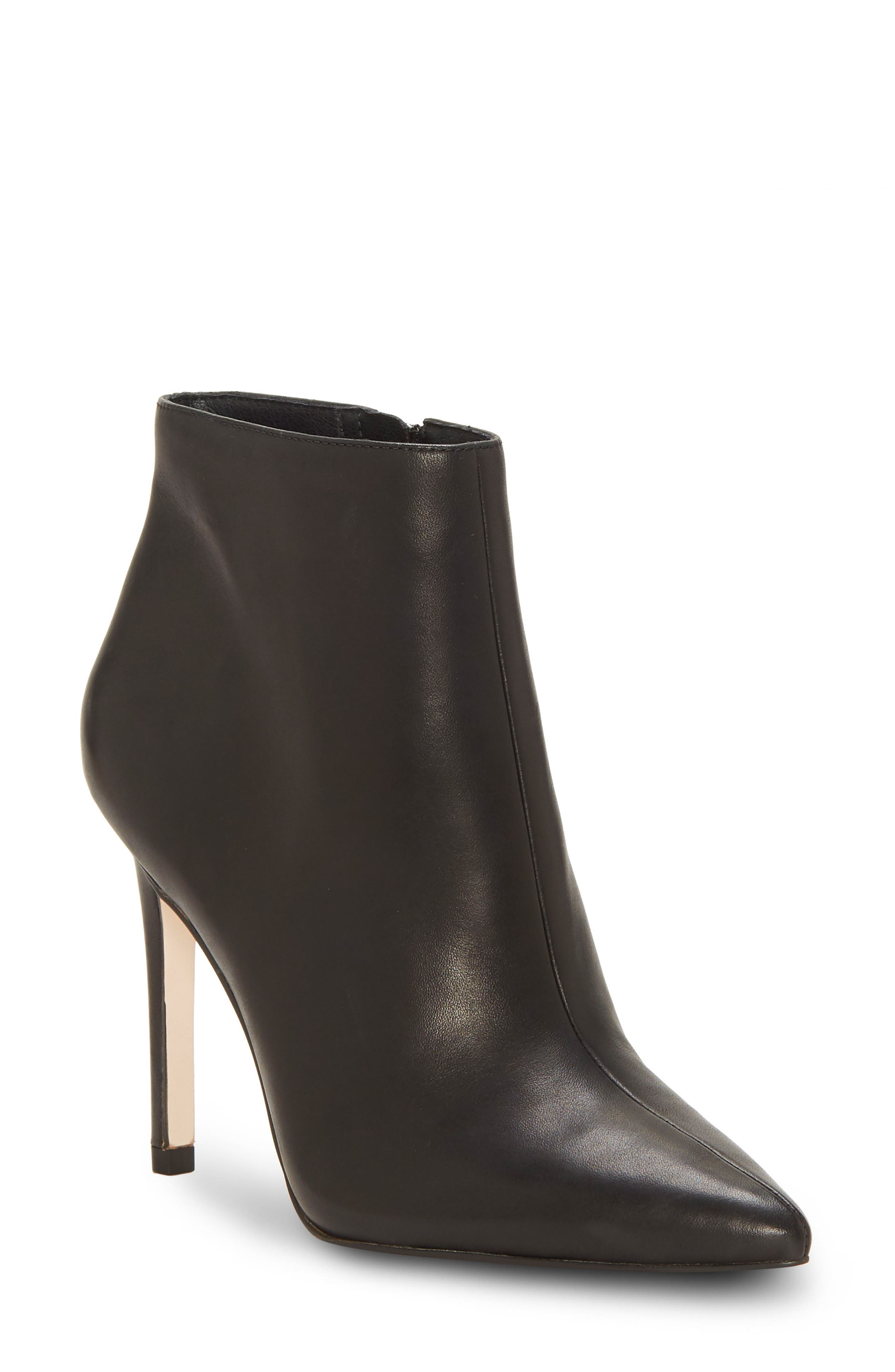 Perci Bootie,                         Main,                         color, BLACK LEATHER