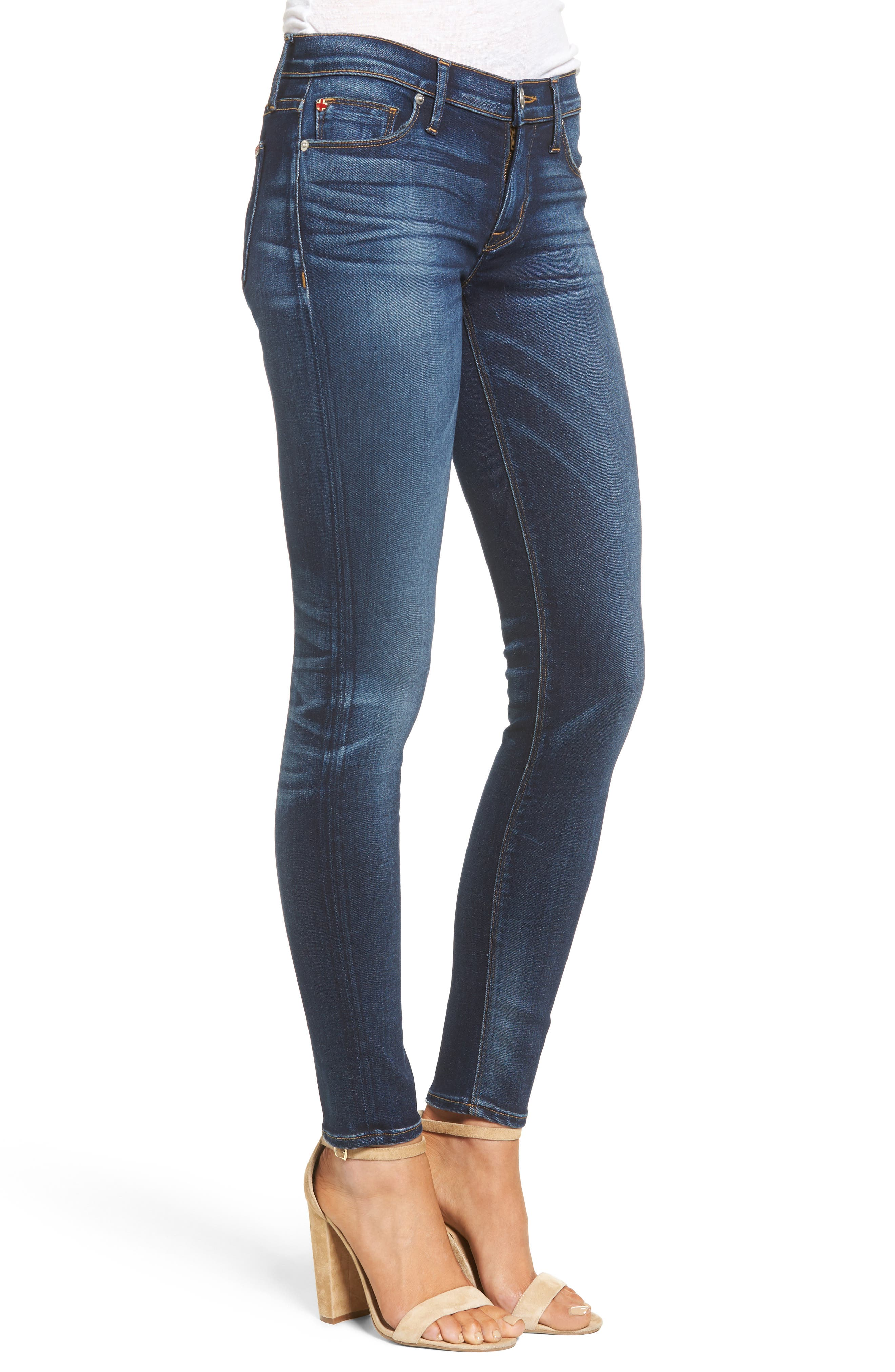 Nico Skinny Jeans,                             Alternate thumbnail 3, color,                             BLUE GOLD