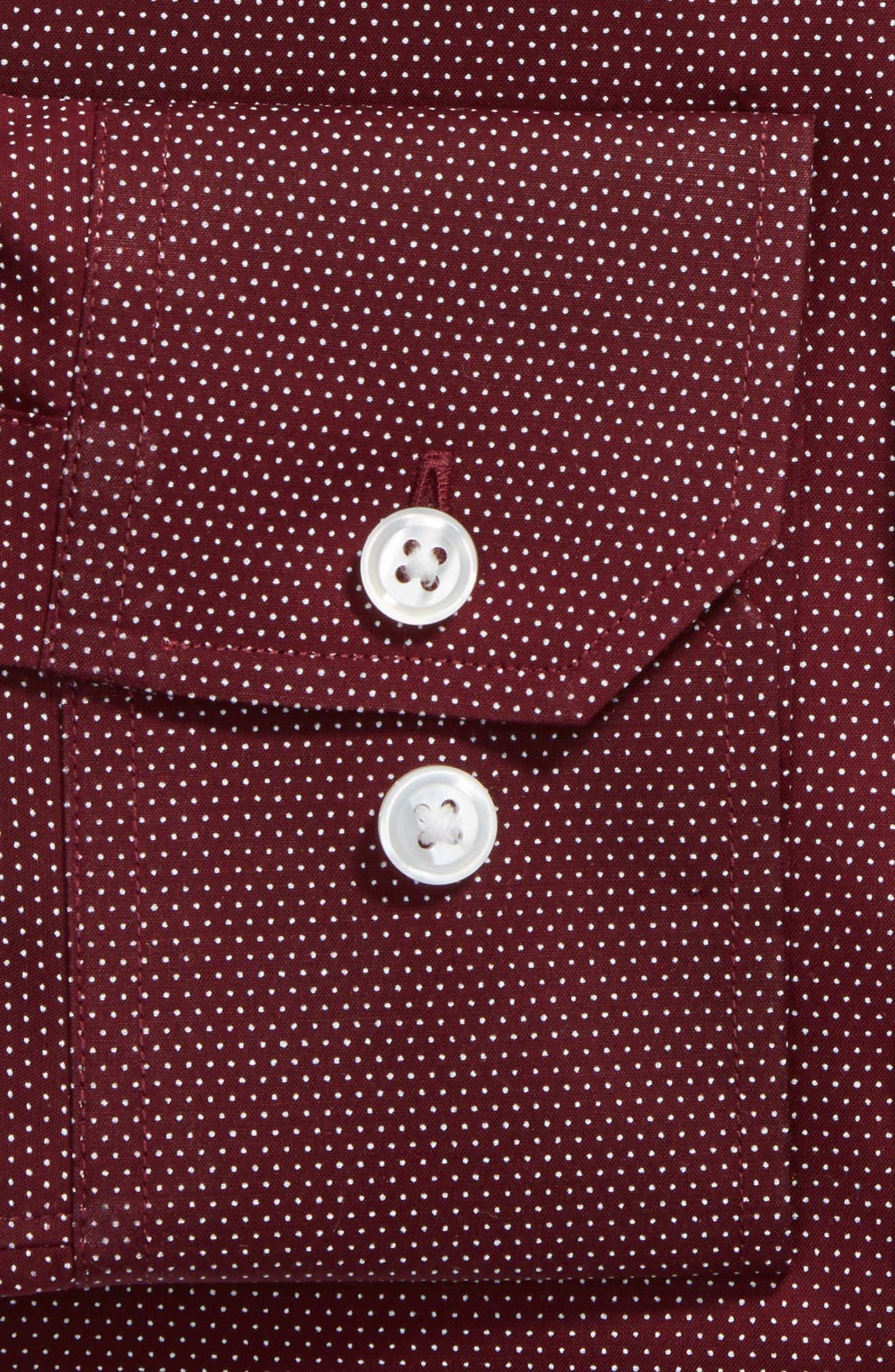 Slim Fit Dot Dress Shirt,                             Alternate thumbnail 2, color,                             600