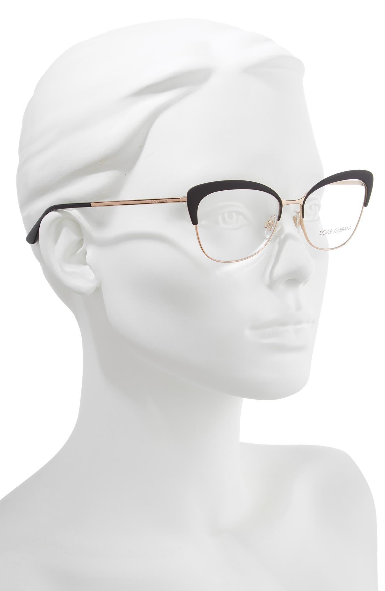 54mm Optical Glasses,                             Alternate thumbnail 2, color,                             BLACK/ PINK