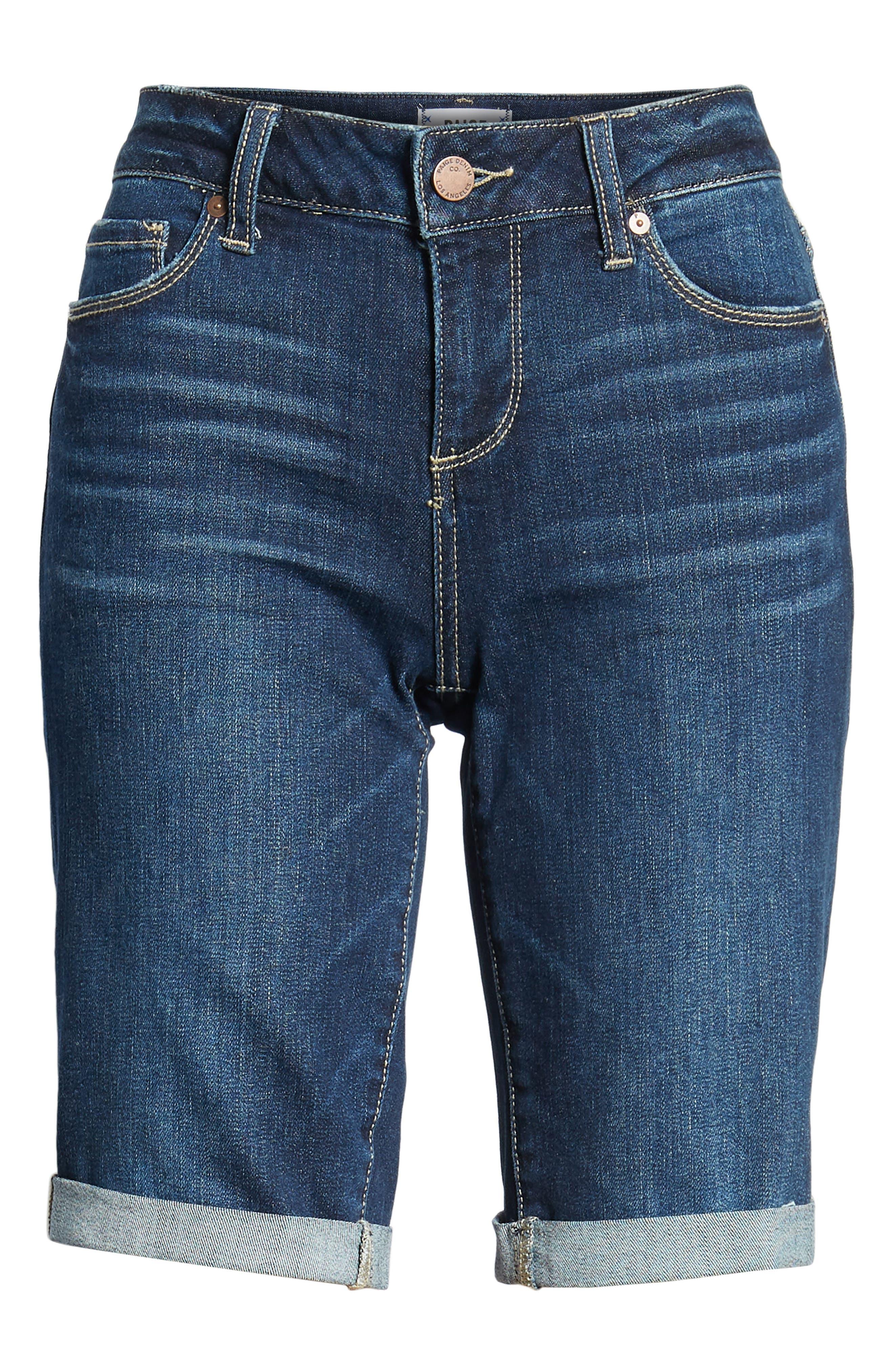 Transcend Vintage - Jax Denim Bermuda Shorts,                             Alternate thumbnail 7, color,                             400