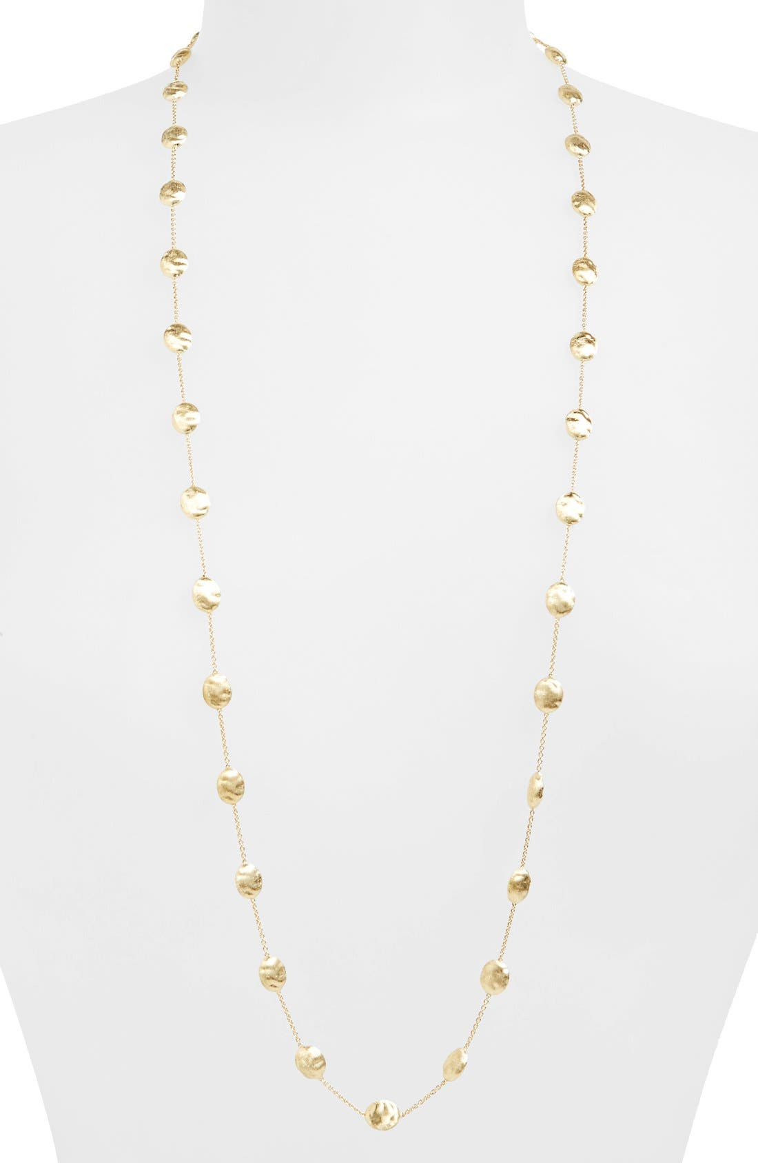 'Siviglia' Long Disc Station Necklace,                             Main thumbnail 1, color,                             YELLOW GOLD