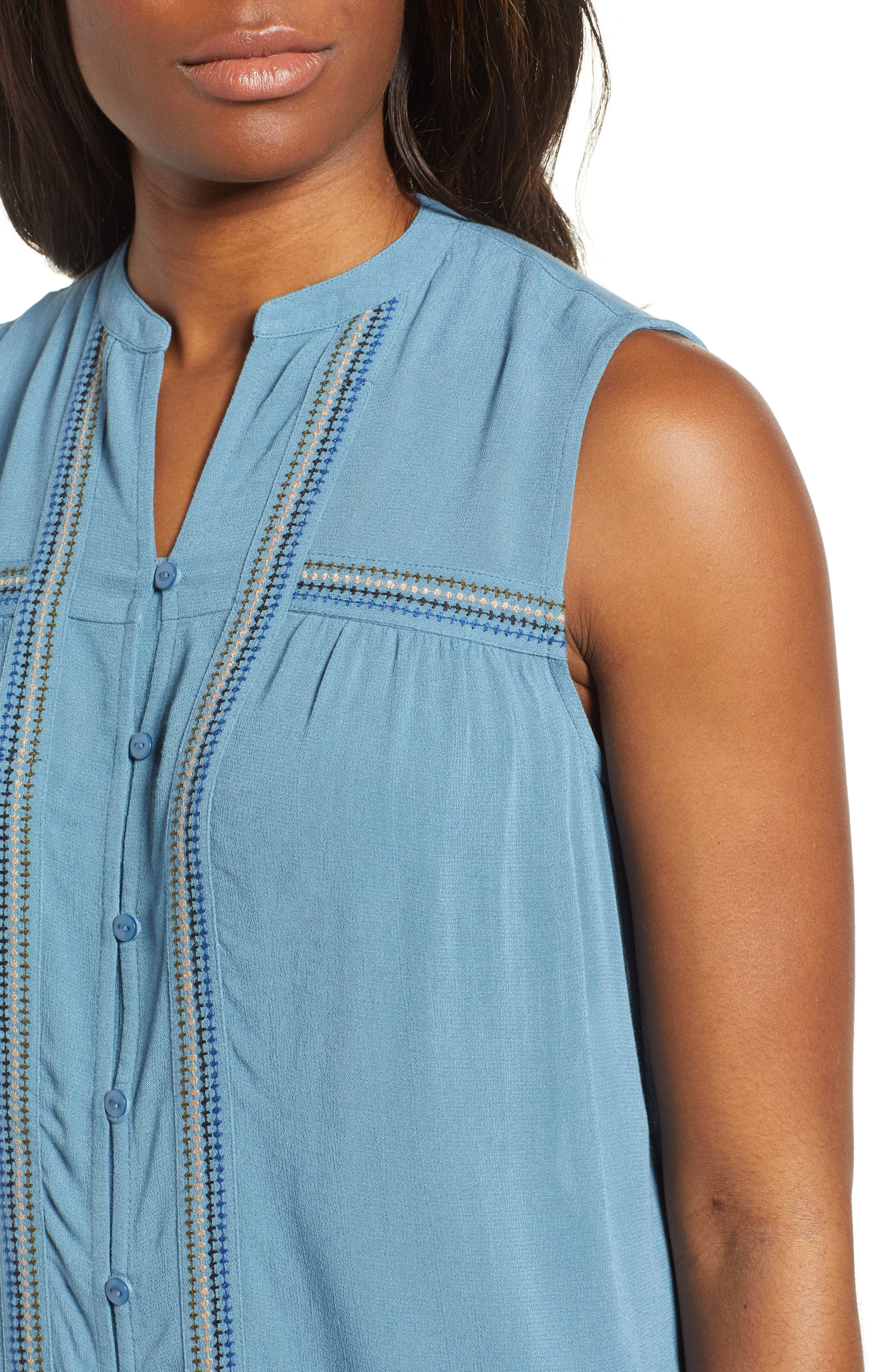 Lucky Embroidered Tank Top,                             Alternate thumbnail 4, color,                             450