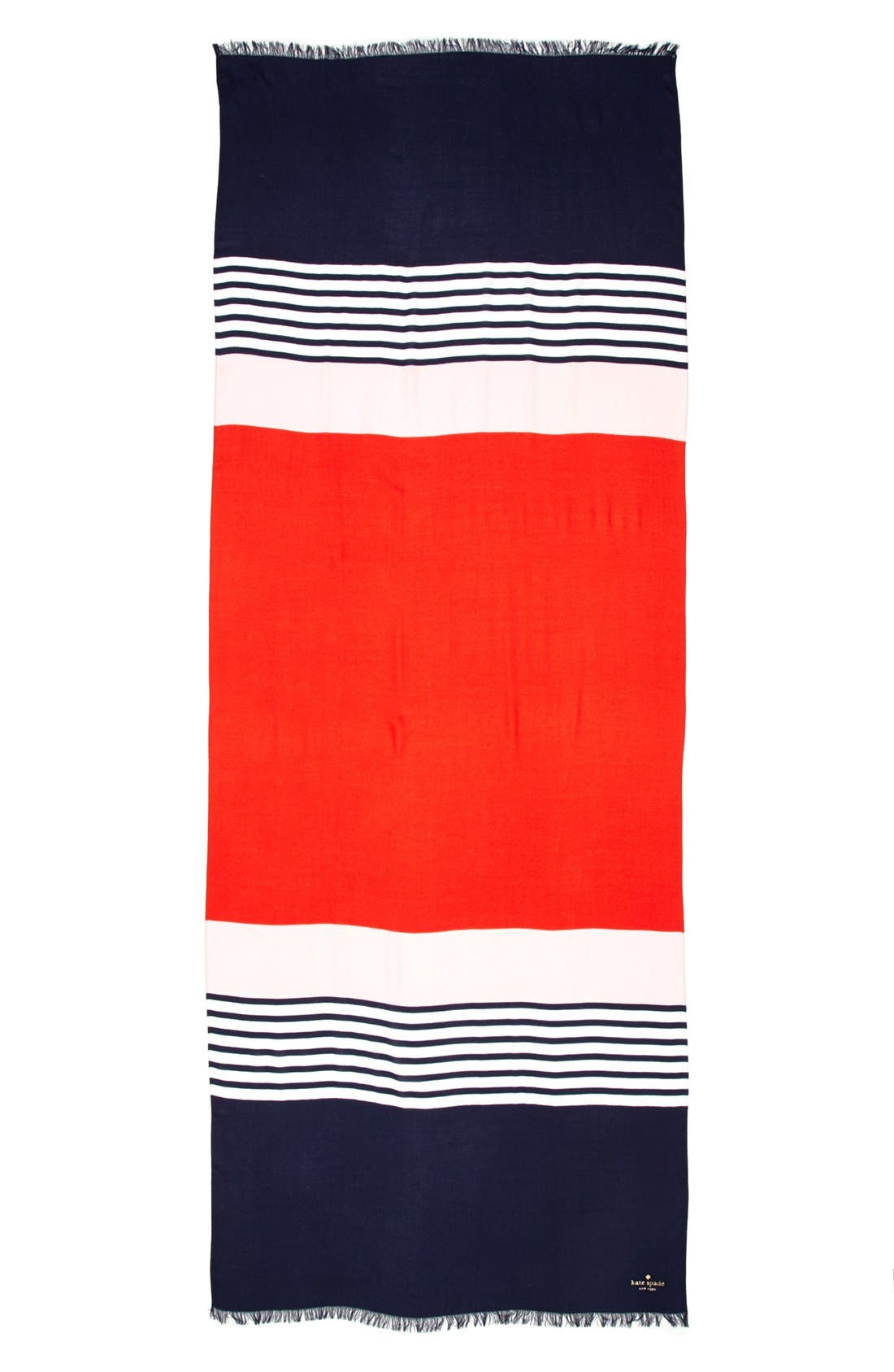 KATE SPADE NEW YORK,                             colorblock scarf,                             Alternate thumbnail 2, color,                             600