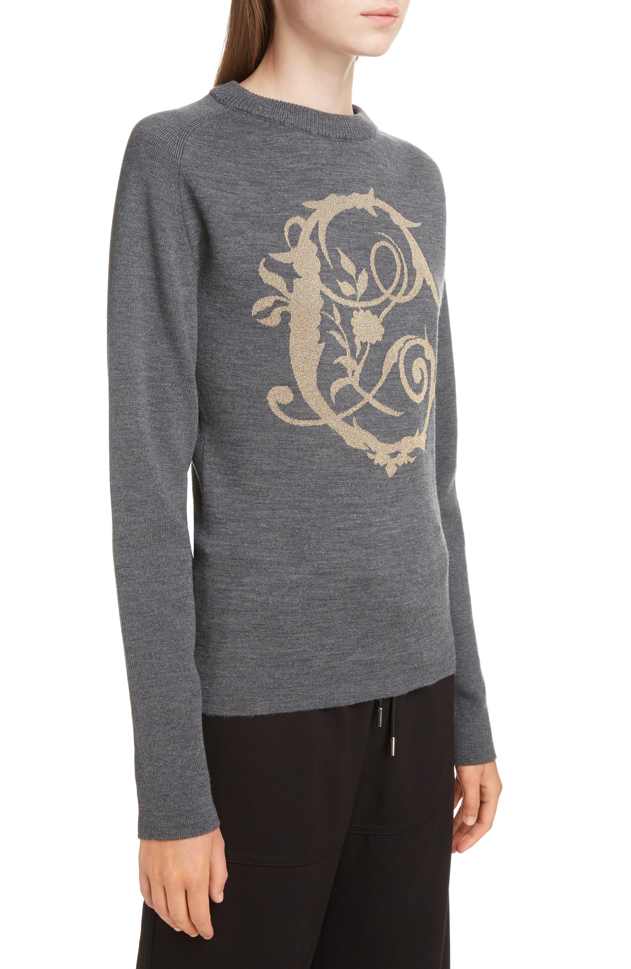 Brocade C Sweater,                             Alternate thumbnail 4, color,                             CONFIDENT GREY