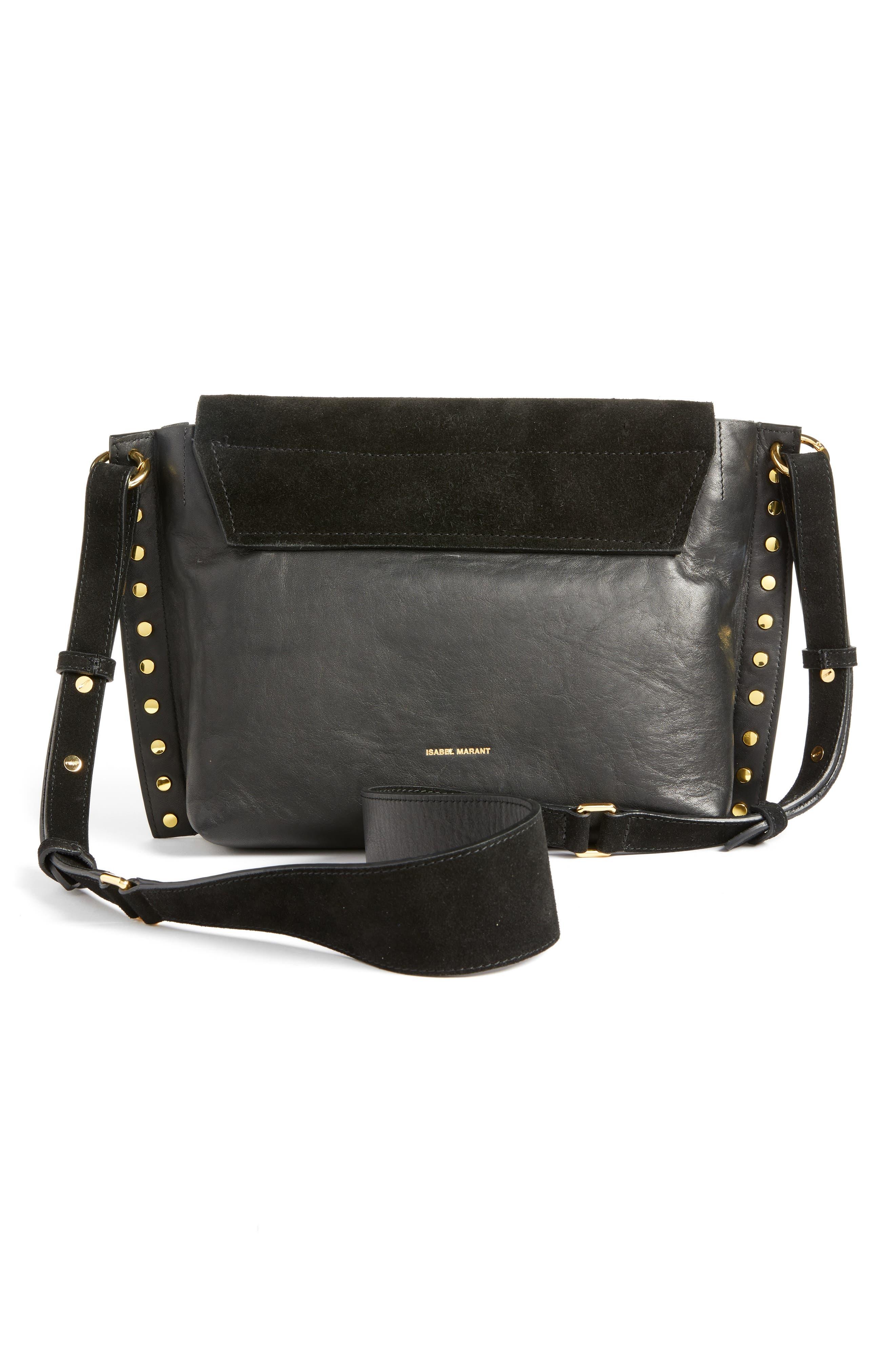 Asli Zoe Studded Shoulder Bag,                             Alternate thumbnail 3, color,