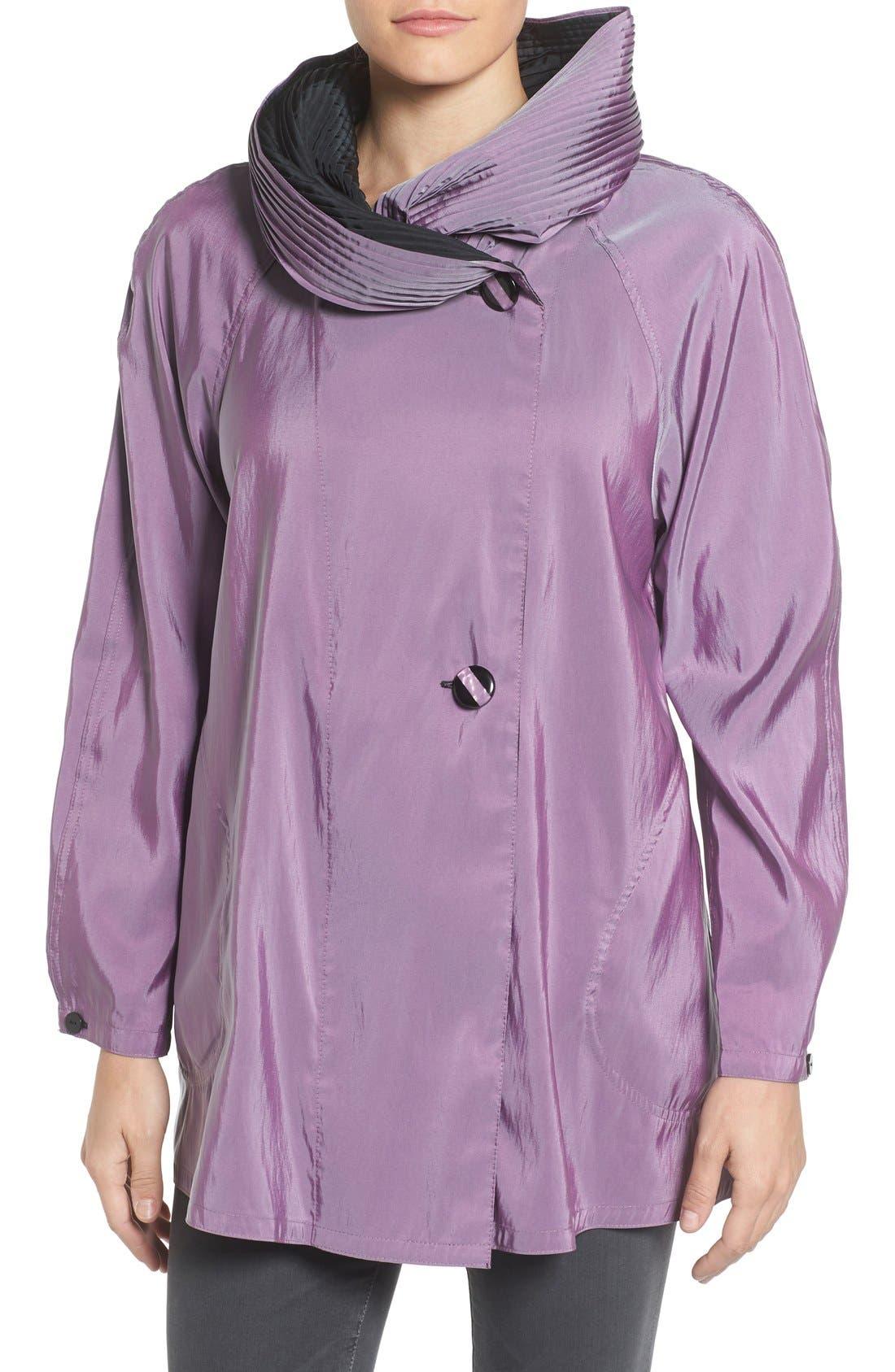 'Mini Donatella' Reversible Pleat Hood Packable Travel Coat,                             Main thumbnail 10, color,