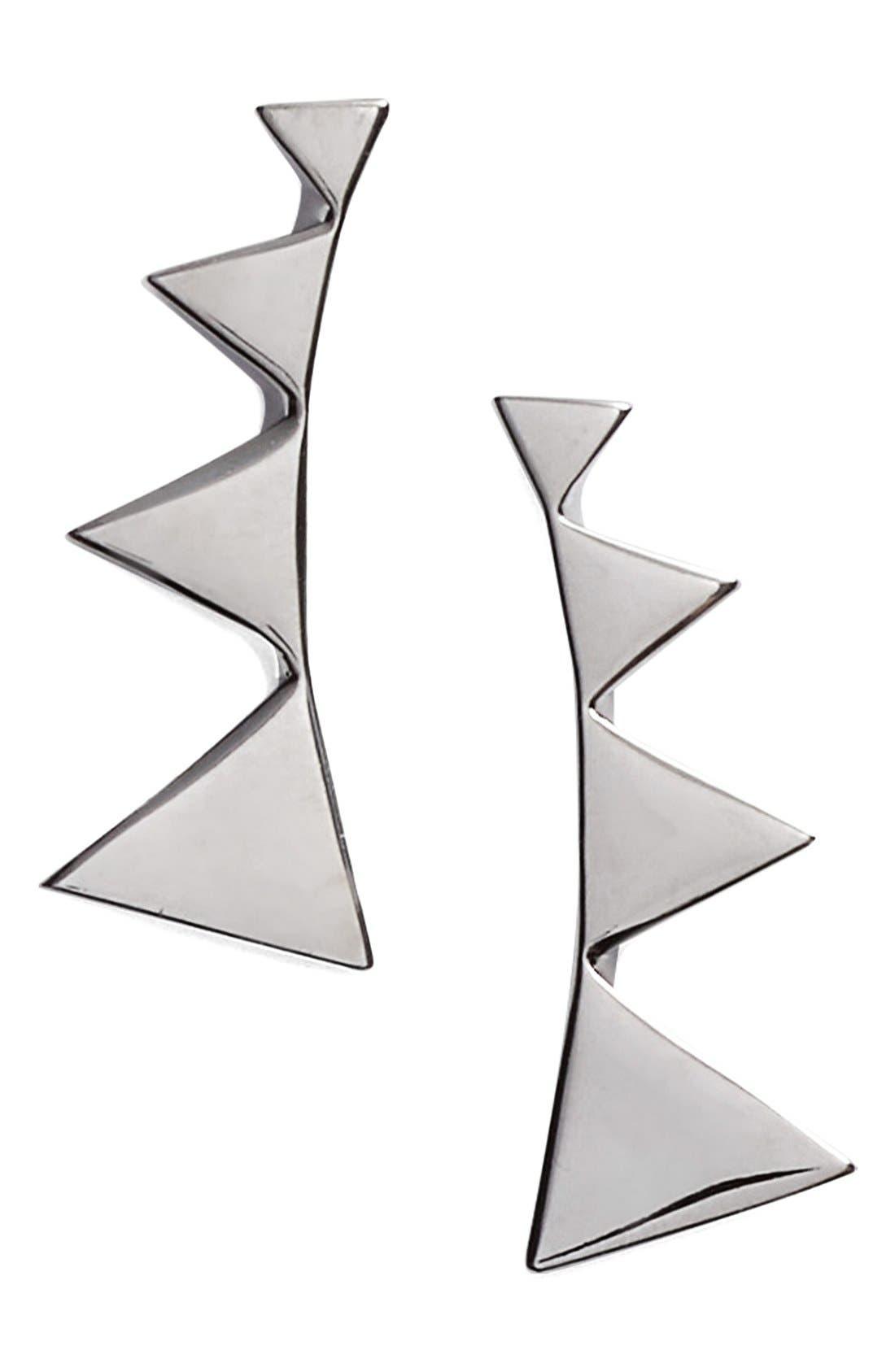 Triangle Ear Crawlers,                             Main thumbnail 1, color,                             BLACK