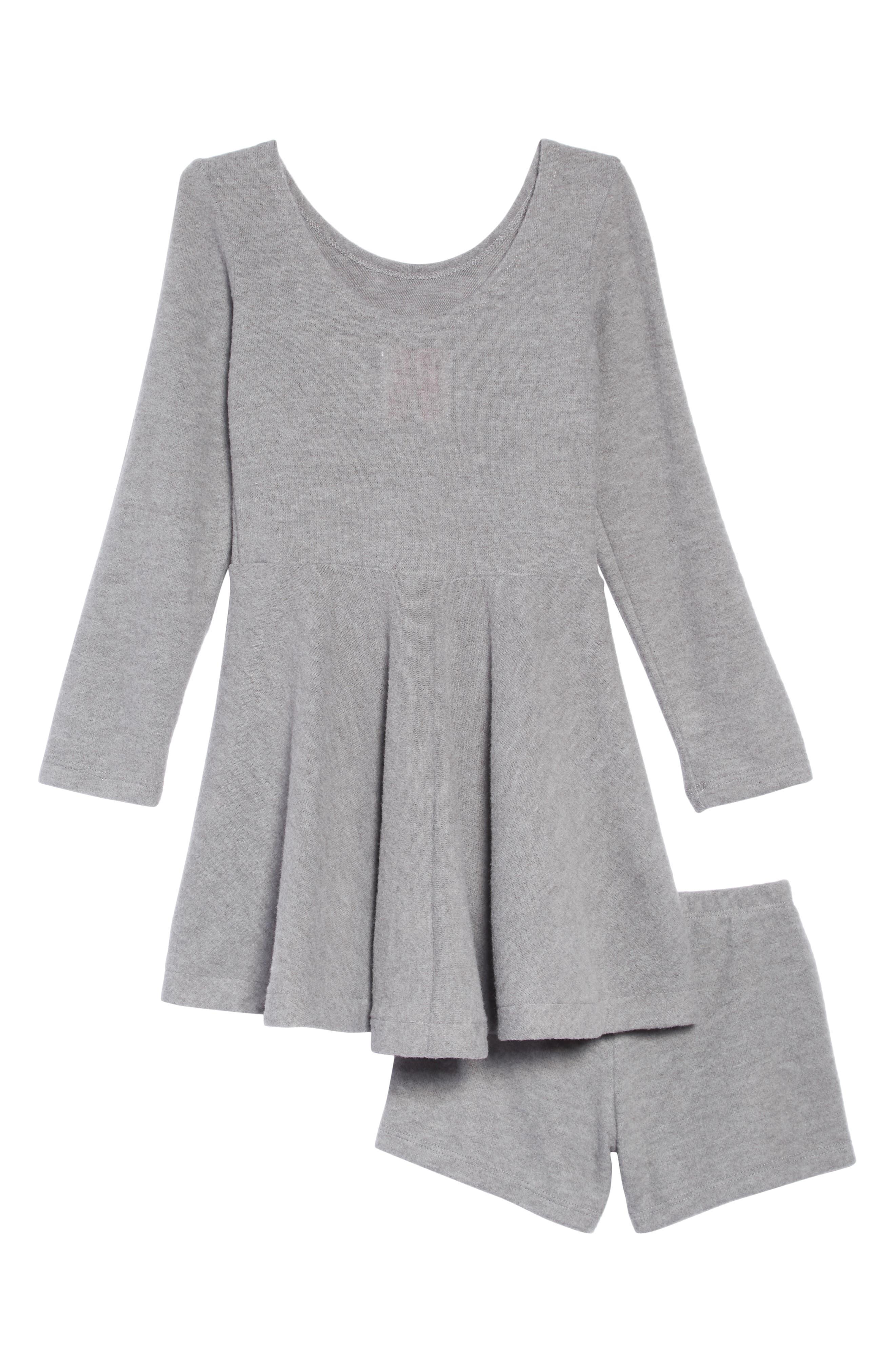 Sequin Appliqué Knit Skater Dress,                             Alternate thumbnail 2, color,                             020